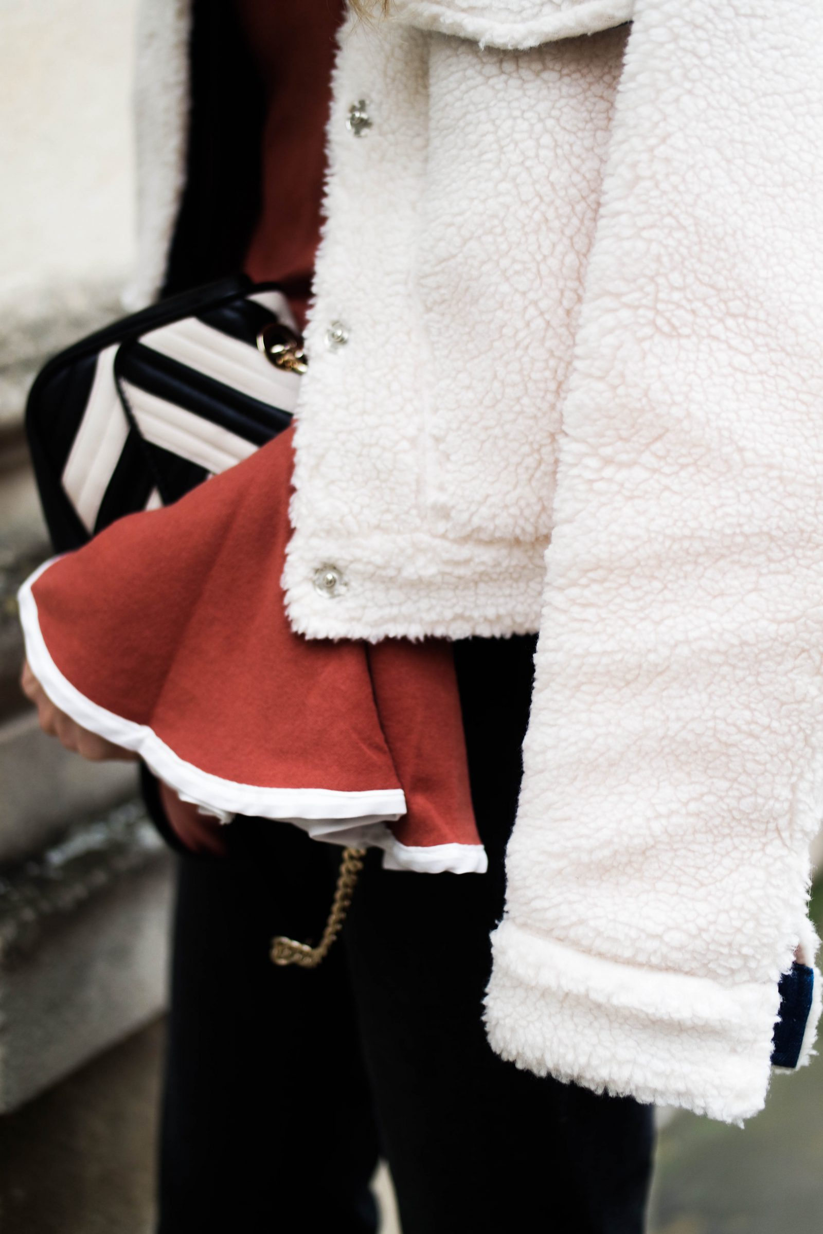 The Return of The Kitten Heel - Shearling Jacket