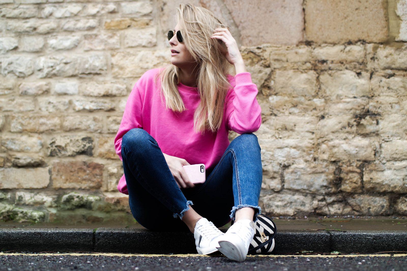 Otterbox Pastel Pink Phone Case - Pink Sweatshirt
