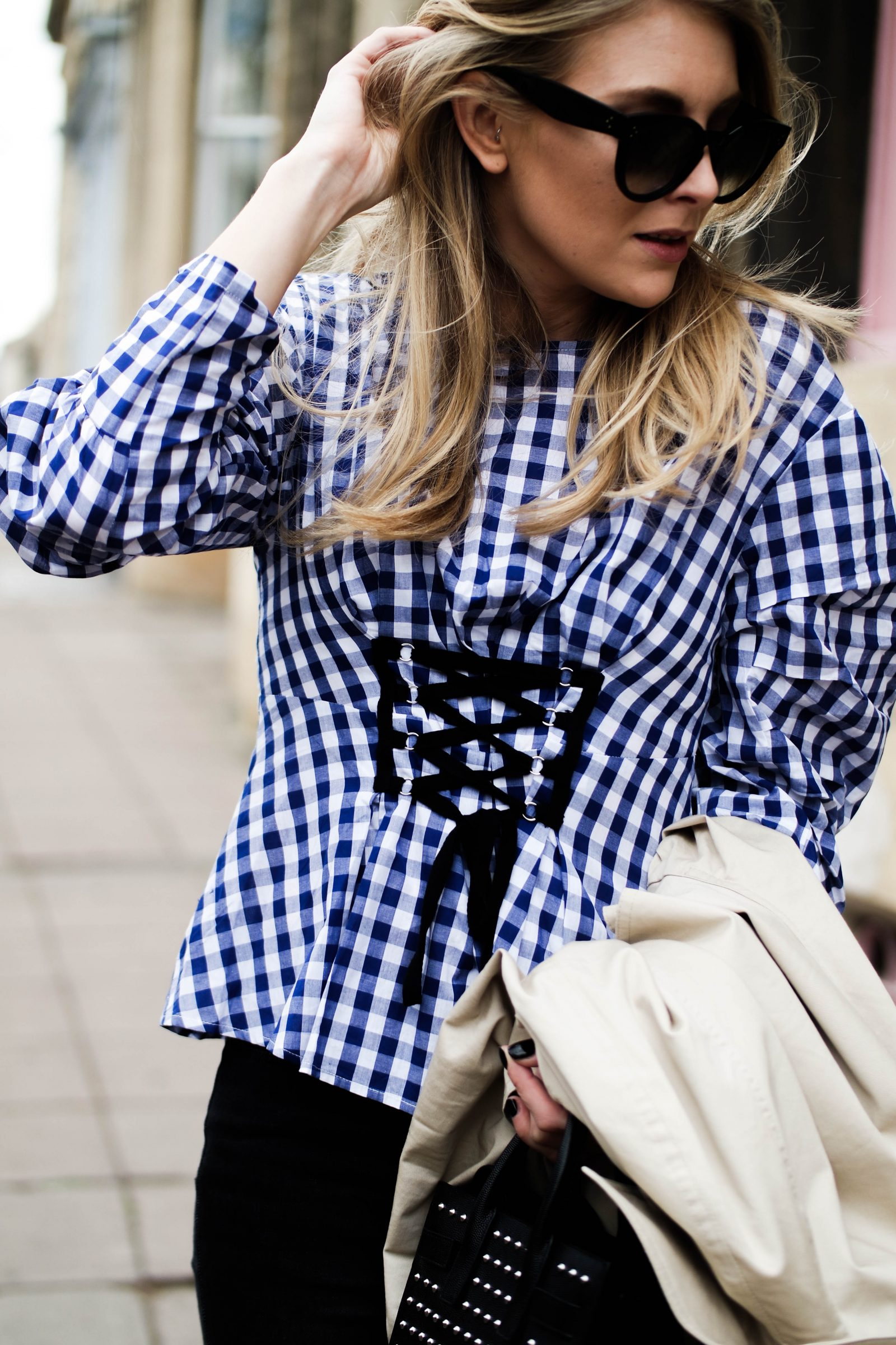 5 Ways To Wear The Corset Trend - Gingham Corset Top