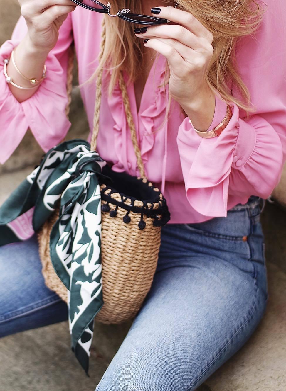 Coachella Vibes - Zara Woven Basket Bag