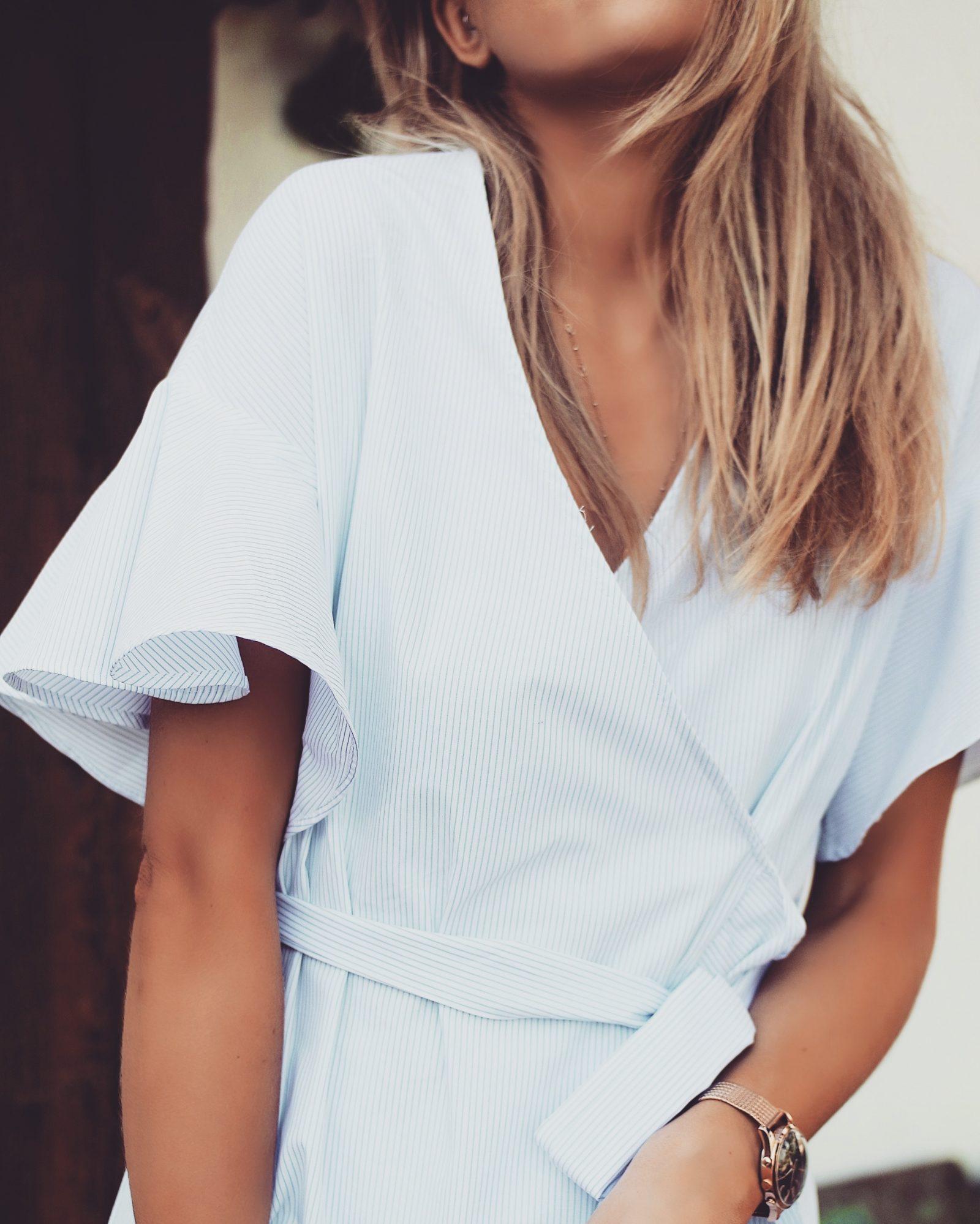 Topshop Dress - Blue White Dress