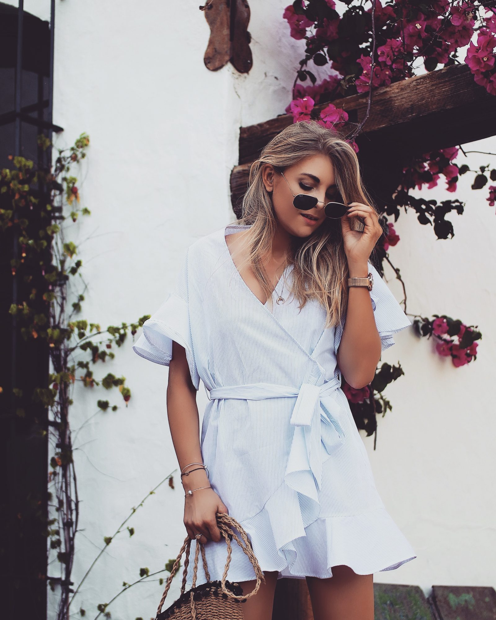 Topshop Dress - Rayban Square Sunglasses