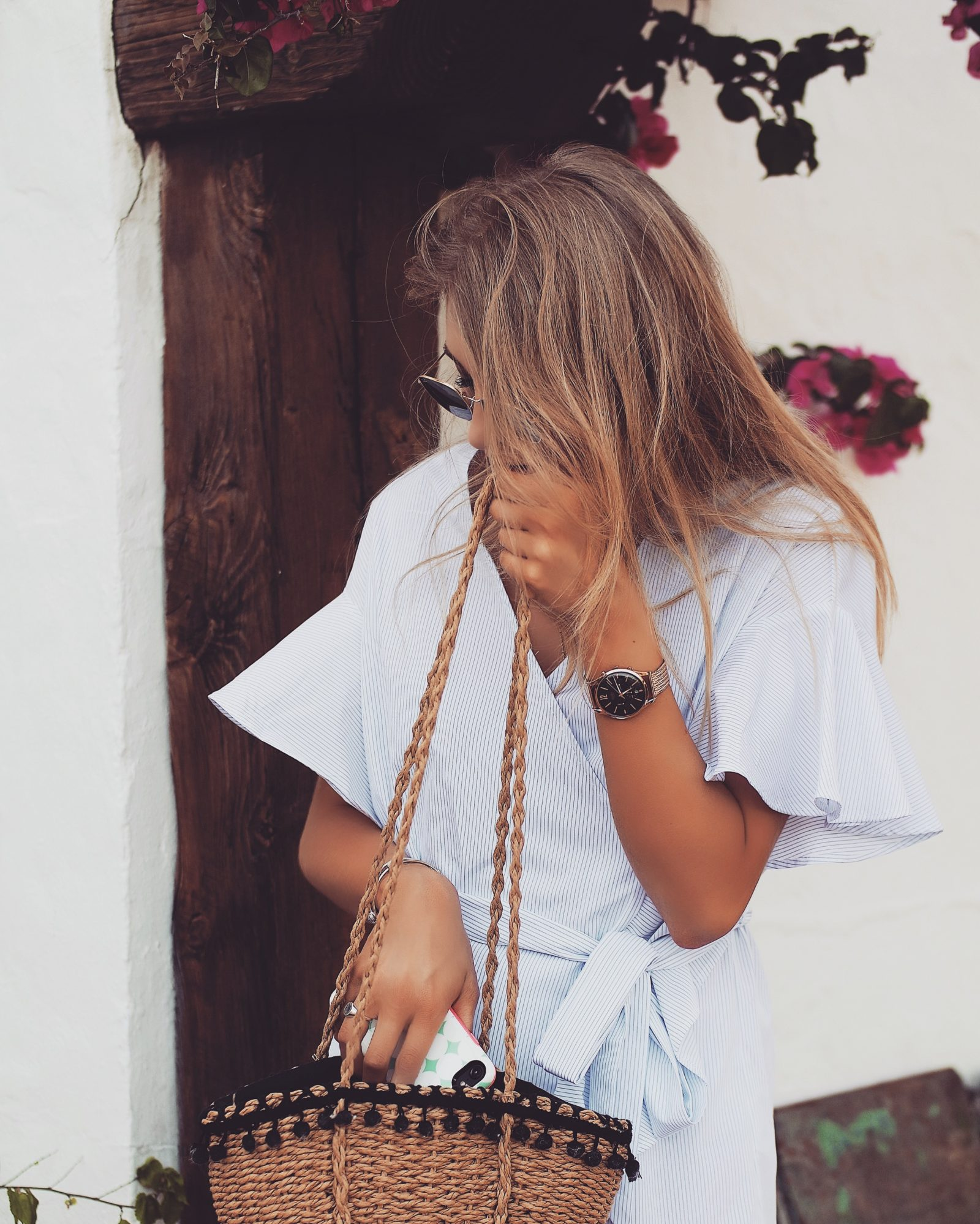 Topshop Dress - Zara Basket Bag