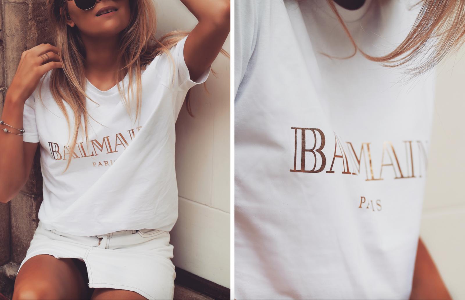 The Designer Slogan Tee - Balmain Ready To Wear