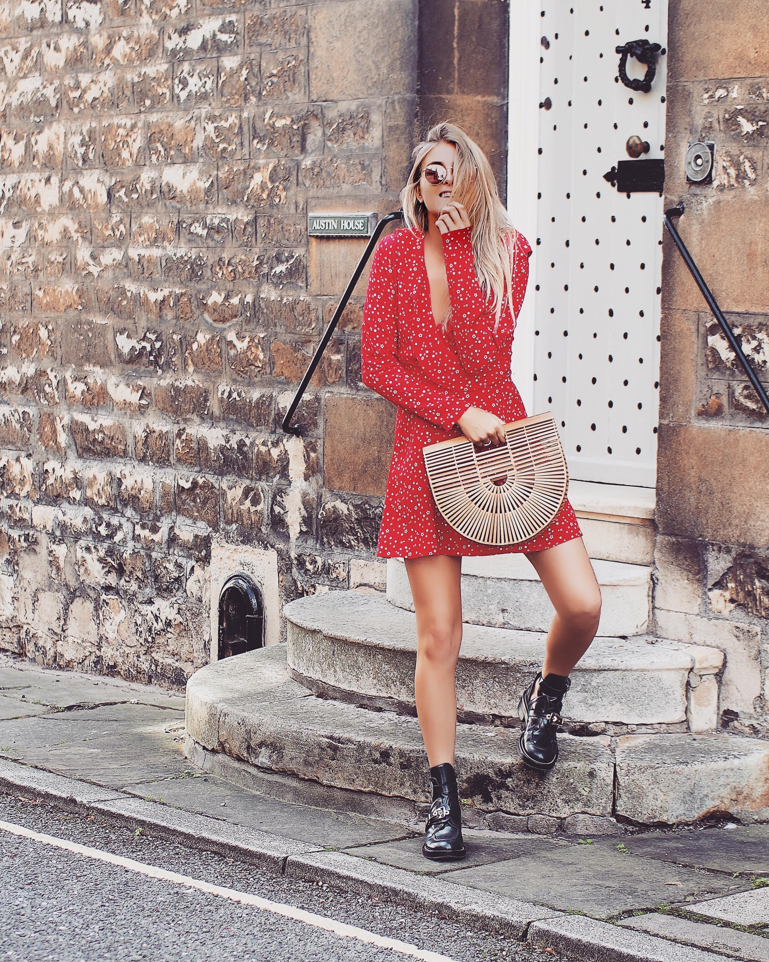 Little Red Dress - Balenciaga Boots