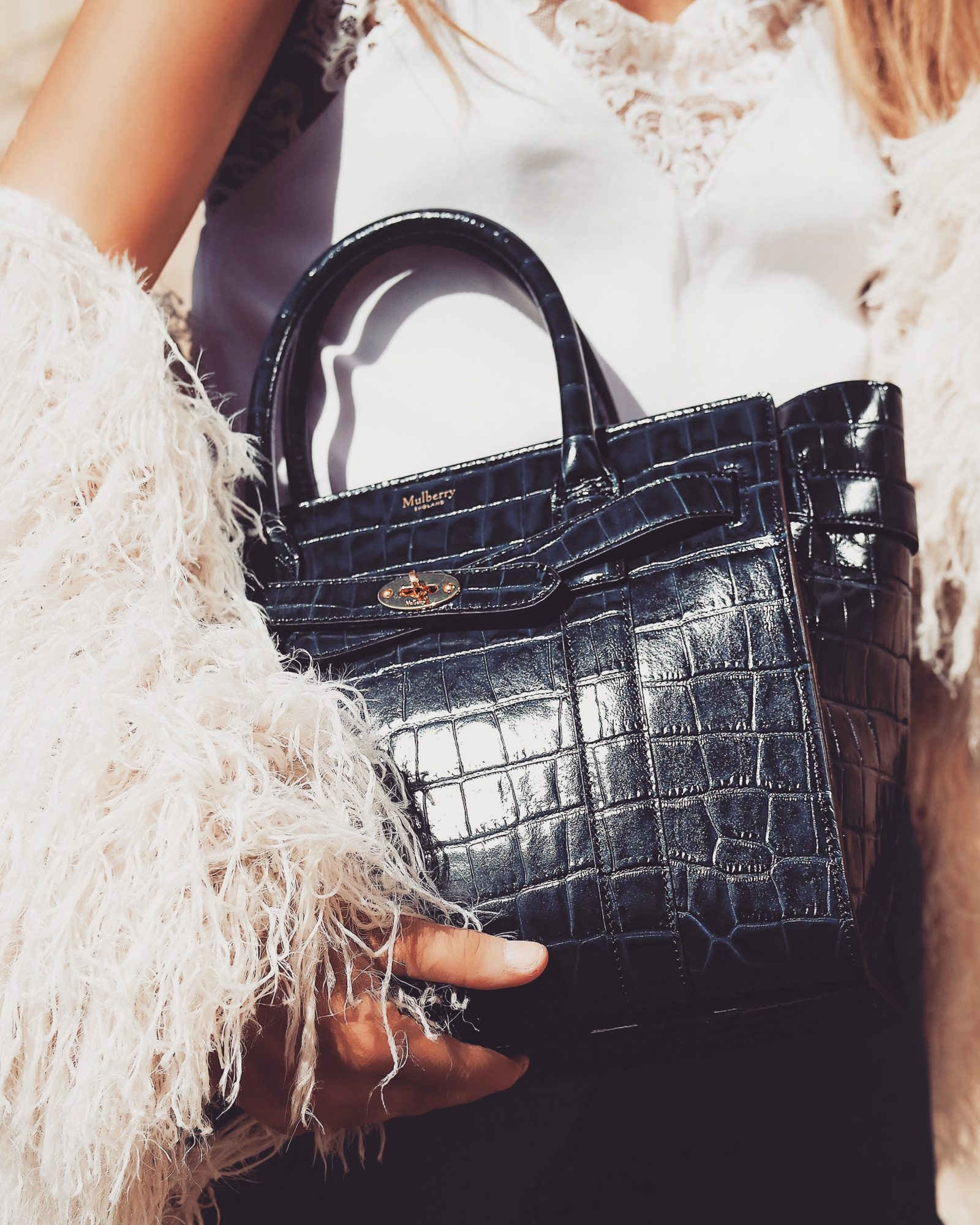 Mulberry Bayswater - Croc Effect