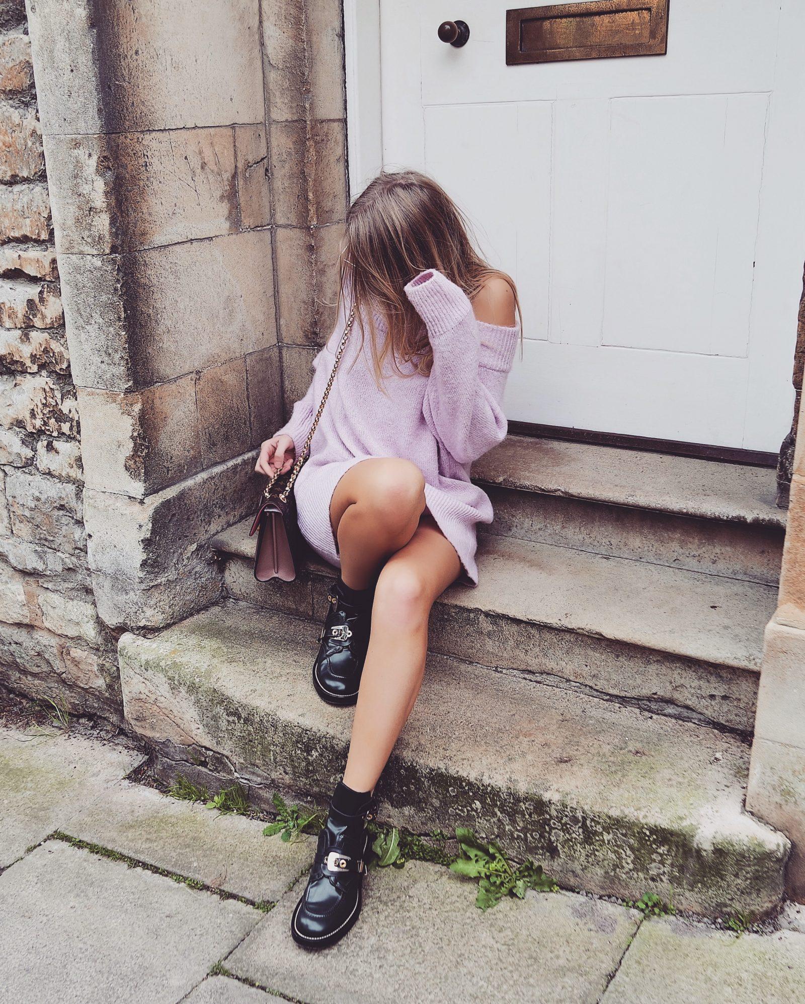 Jumper Dress - Balenciaga Boots