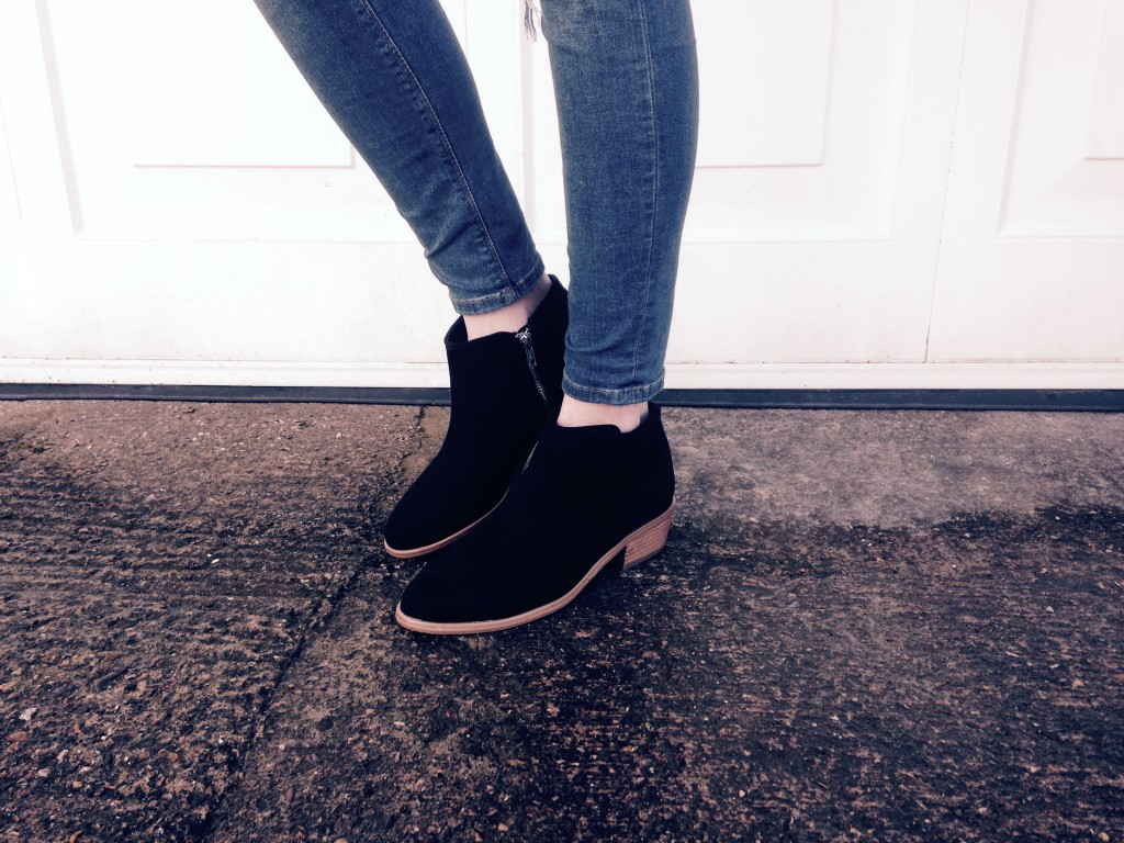 H&M Suede Effect Ankle Boots