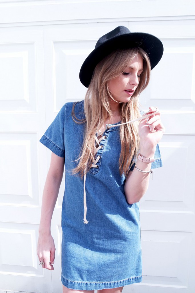 OOTD Denim Dress 3
