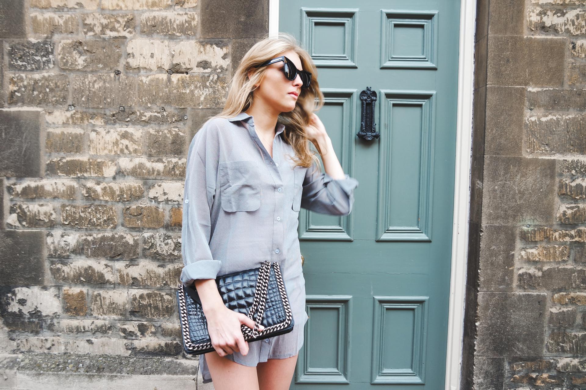 Forever Modo Monochrome Shirt Dress