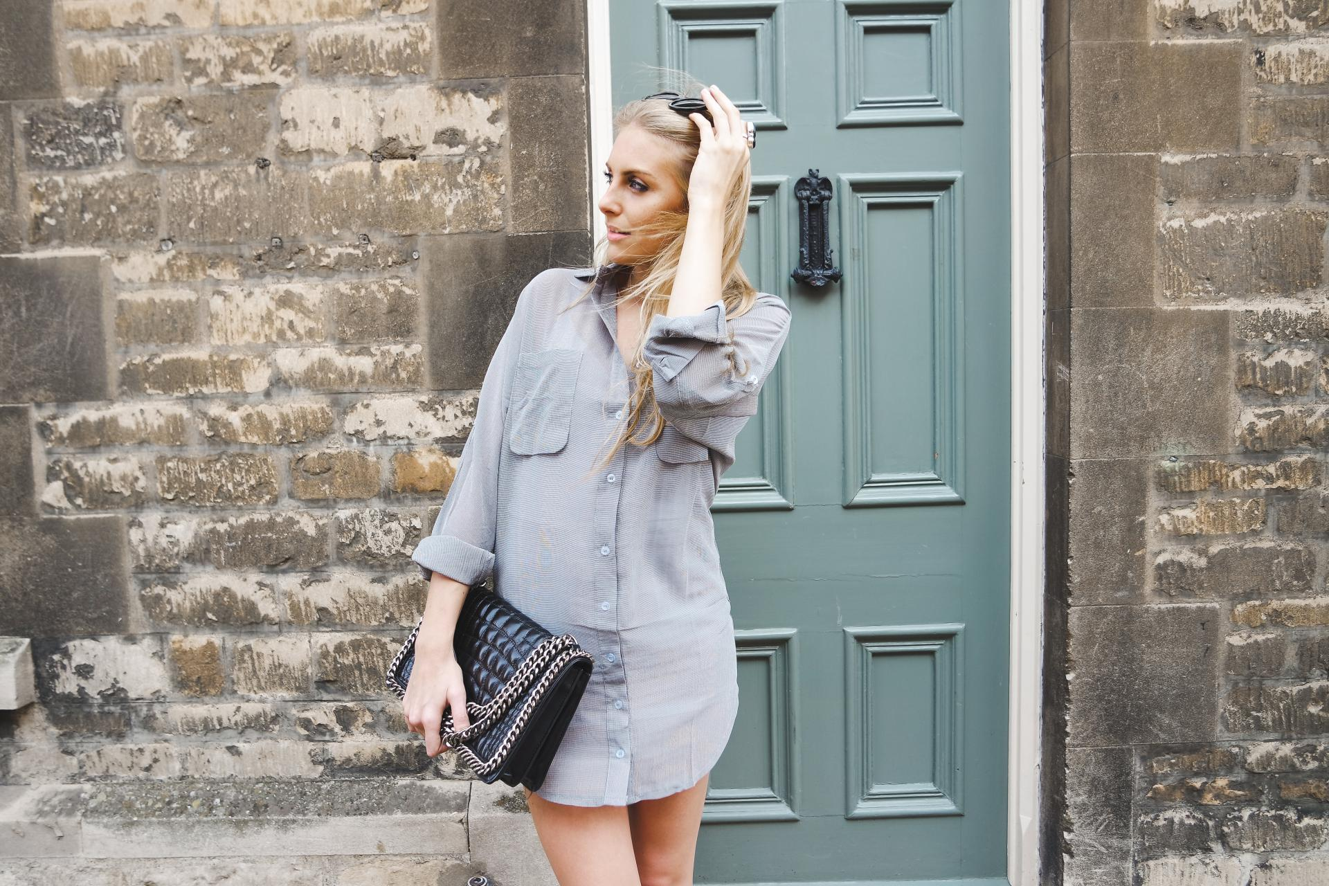Forever Modo Monochrome Shirt Dress