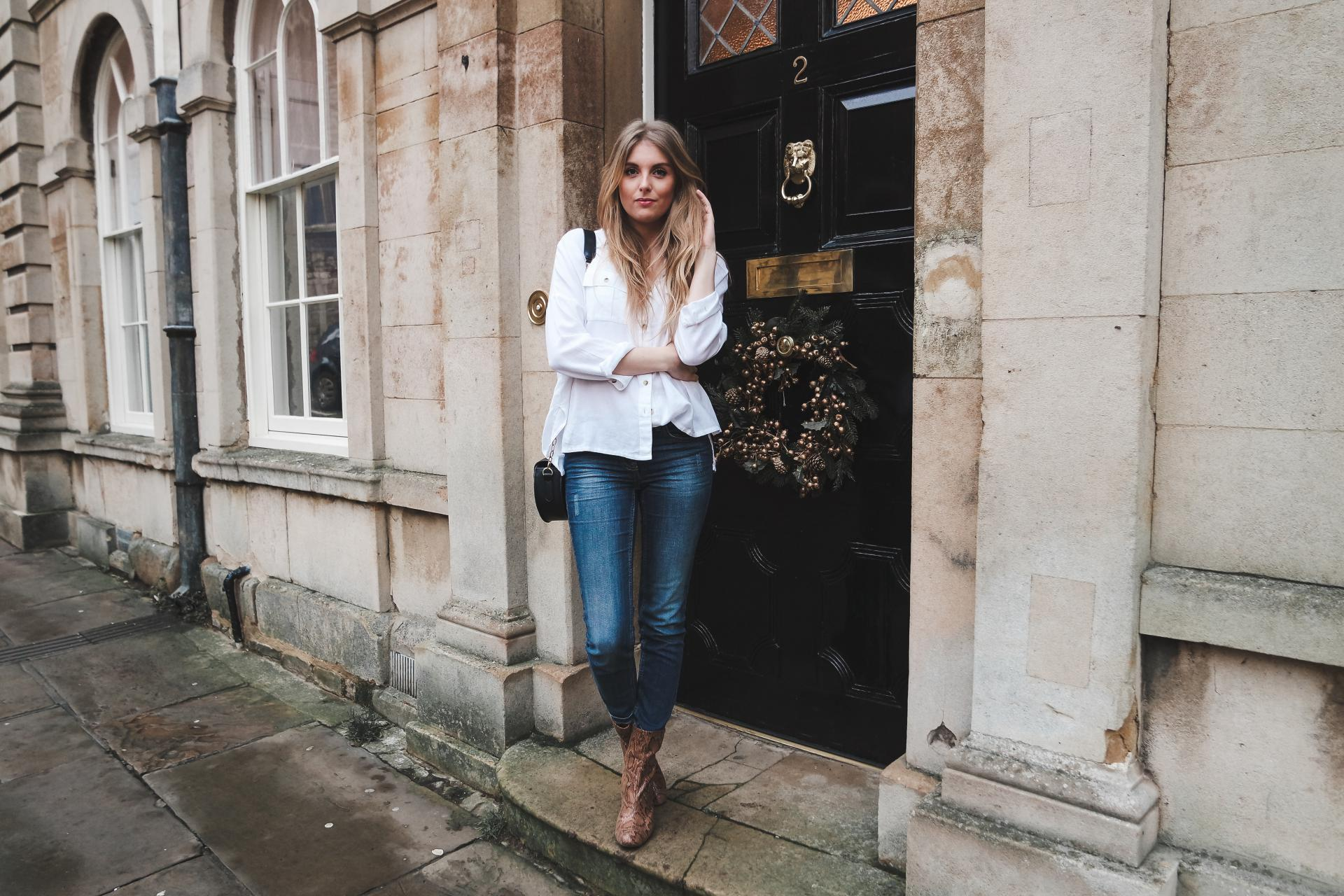 Blue Jeans, White Shirt Outfit