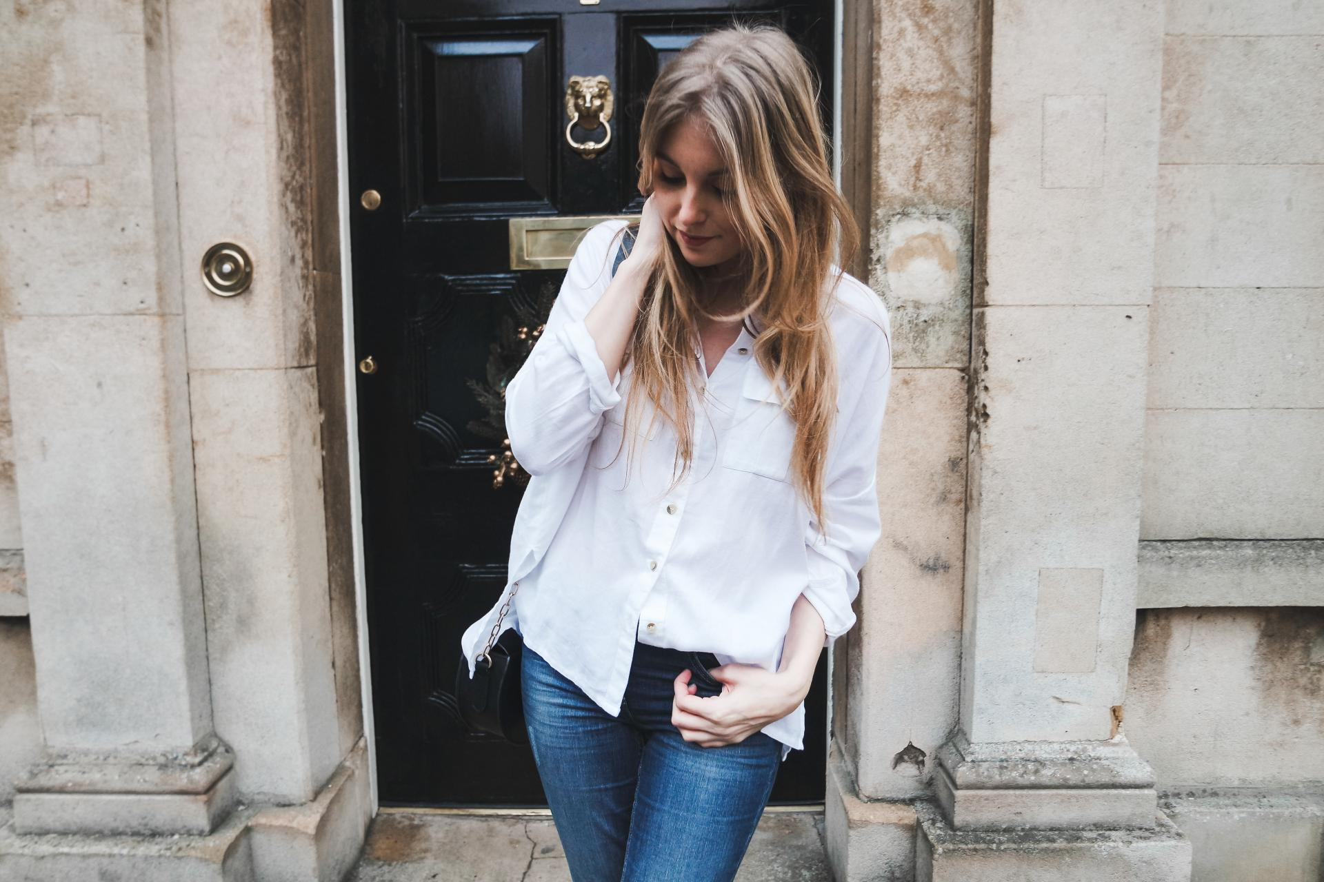 Blue Jeans White Shirt Outfit