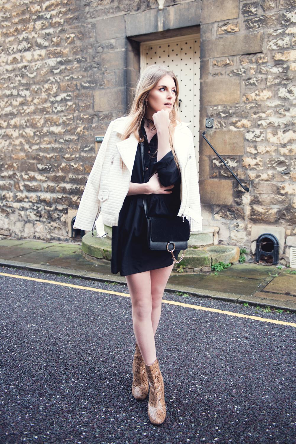 In The Style UK Styling a Black Shirt Dress