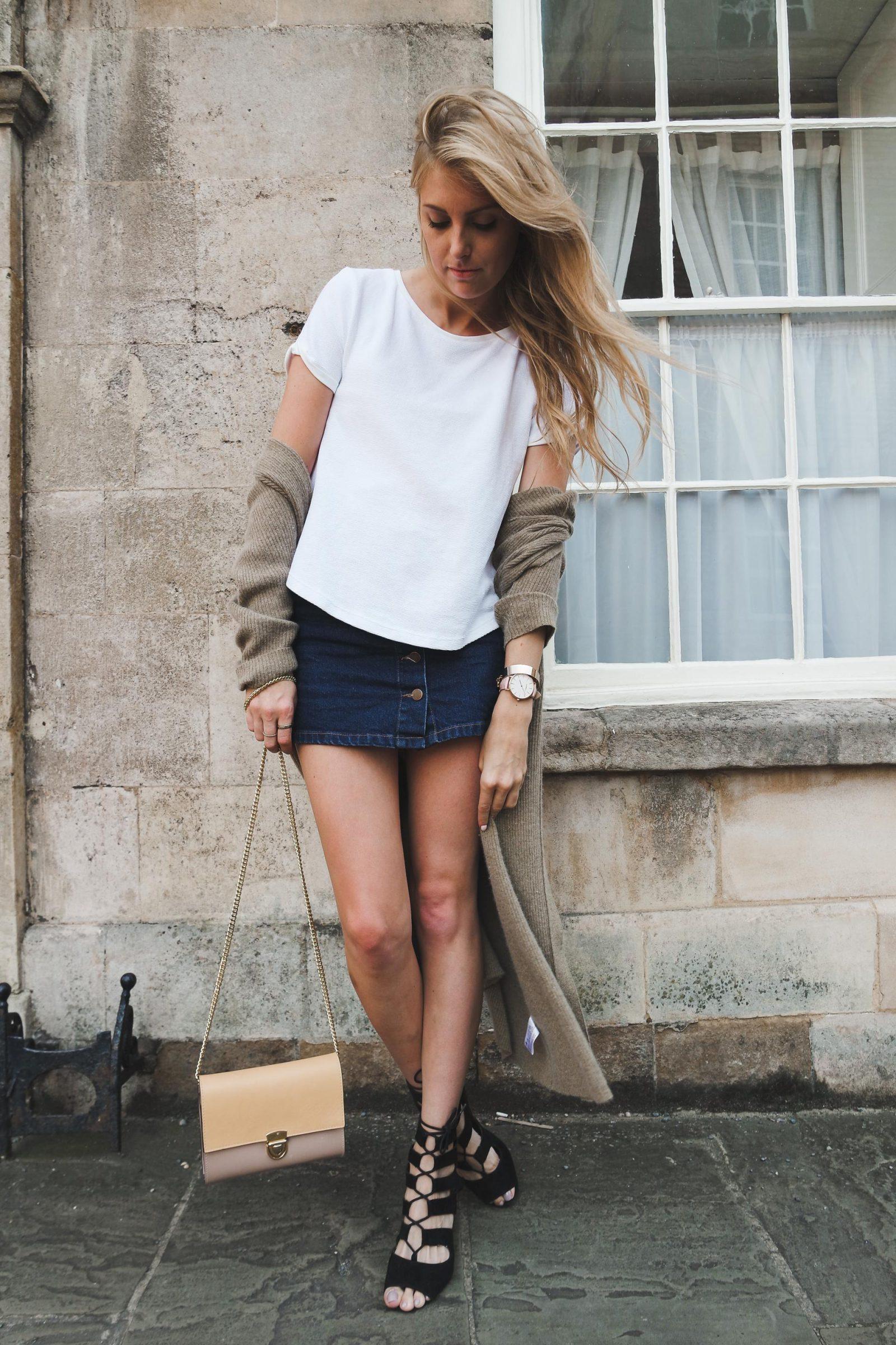 top 10 outfits denim skirt