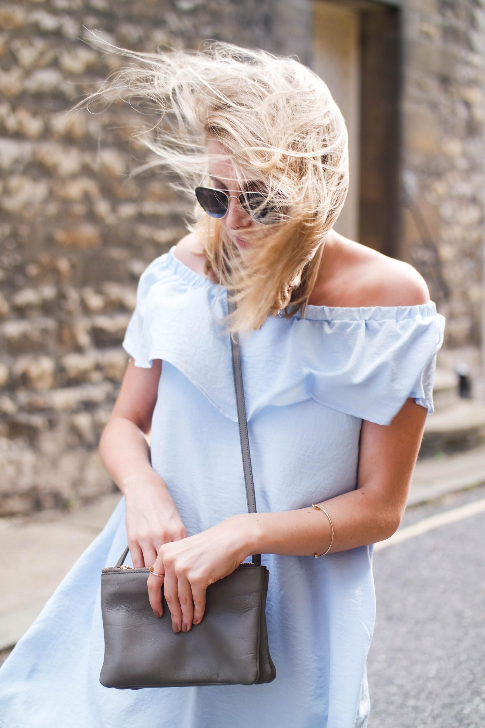 British Summer Off Shoulder Dress