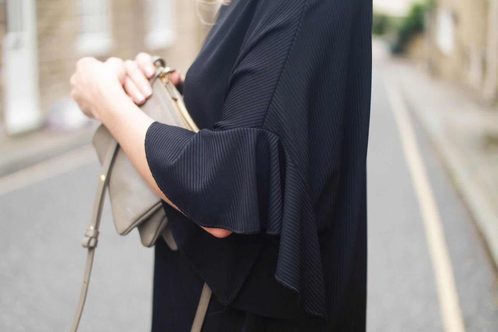 Little Black Dress Flared Sleeves