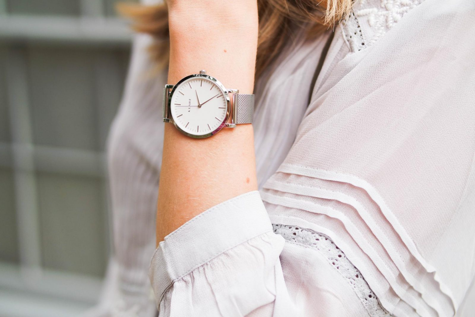 Peasant Blouse Silver Watch