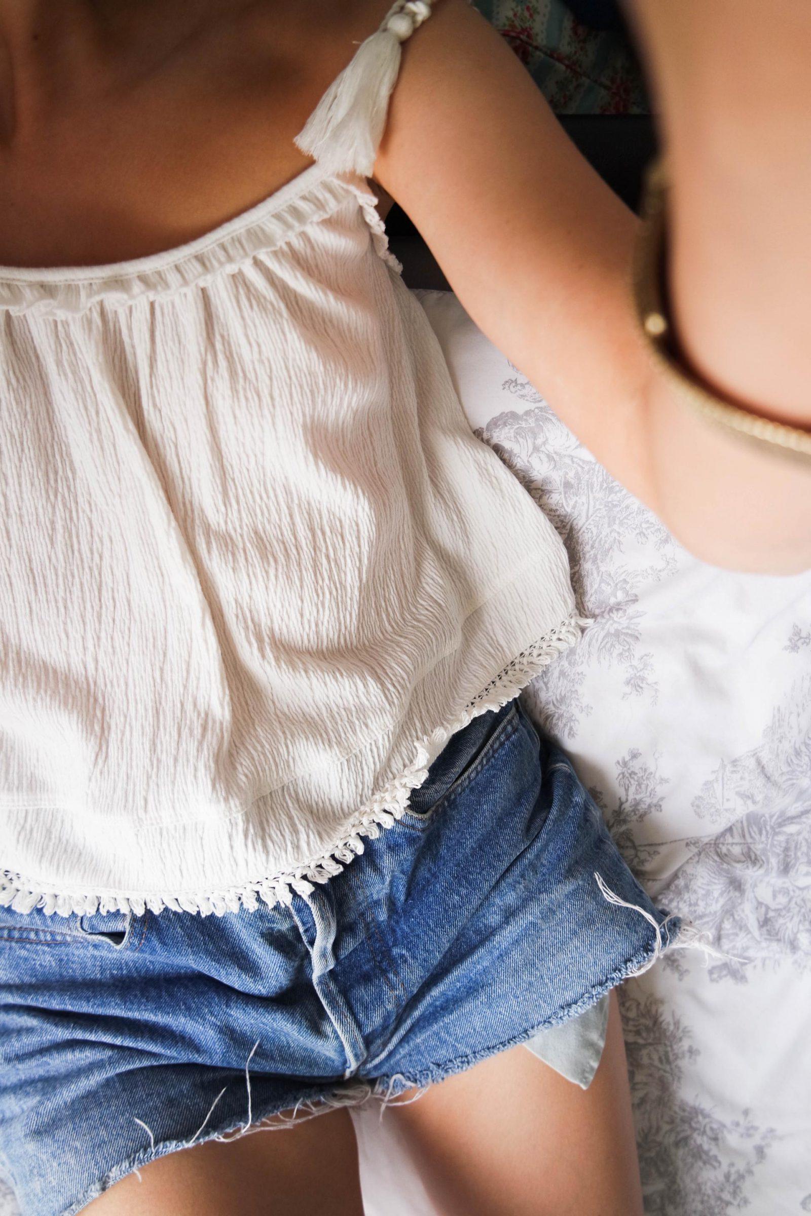 Self Tan Denim Shorts