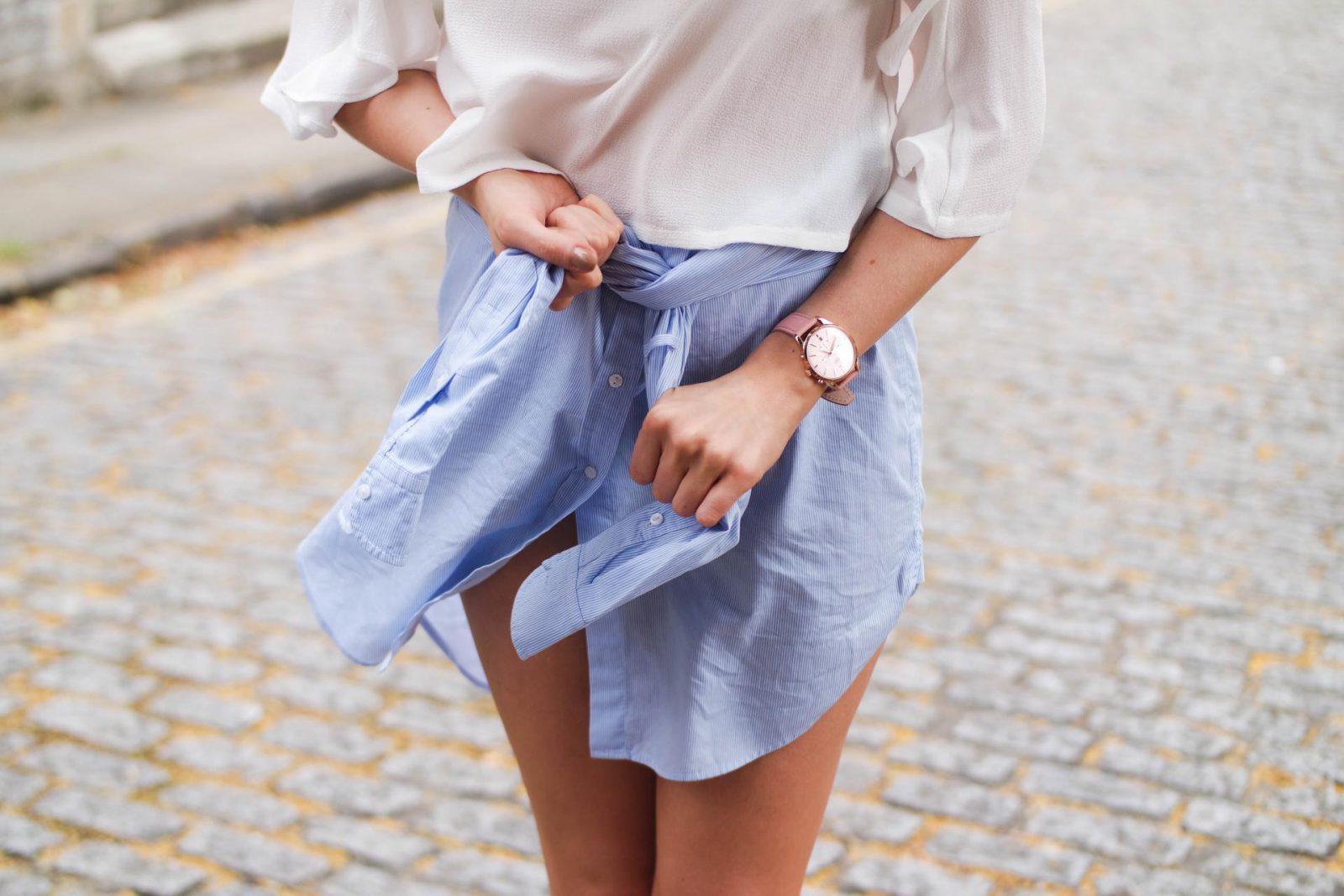 shirt dress as skirt