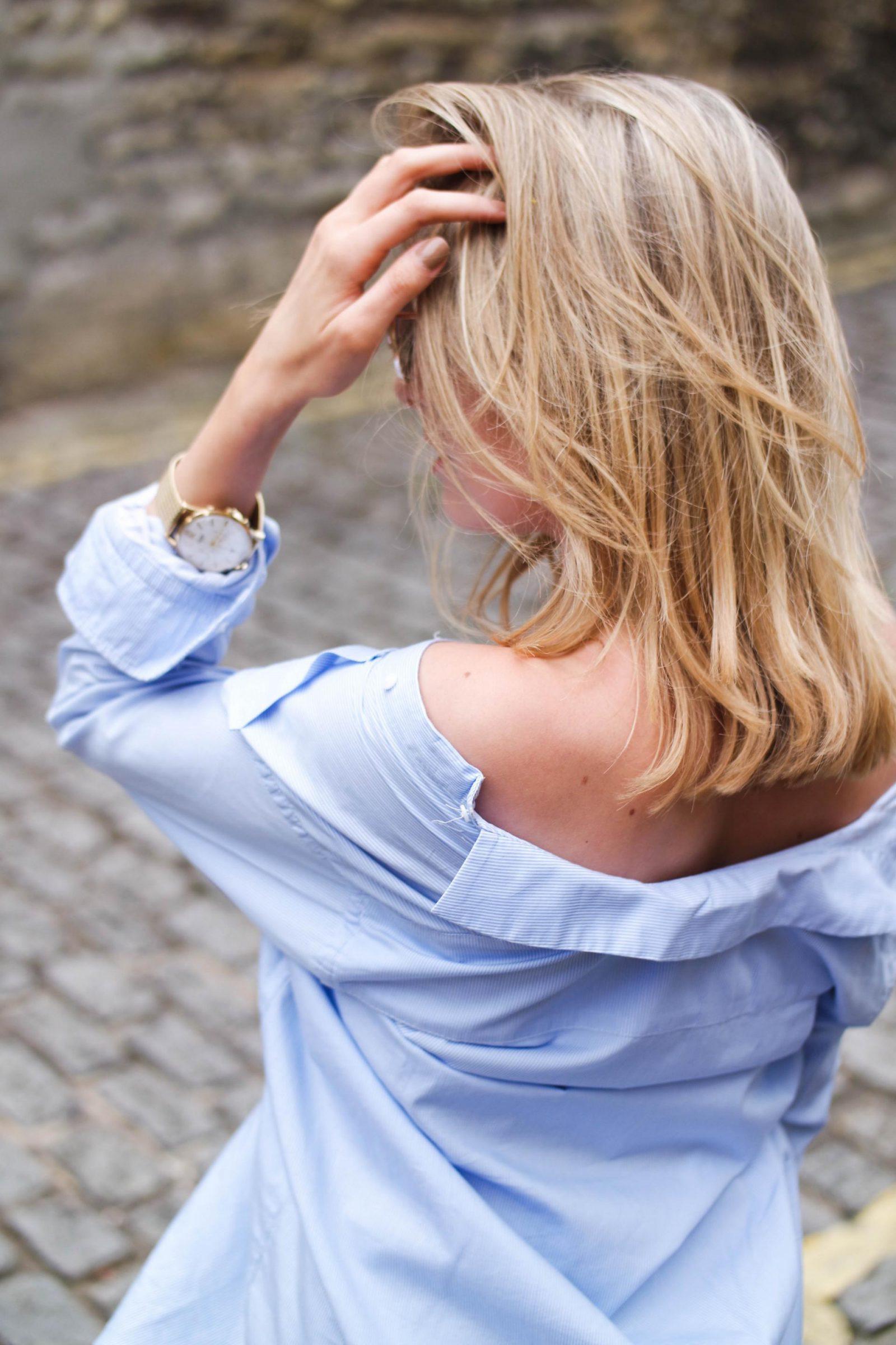 Shirt Dress Cold Shoulder
