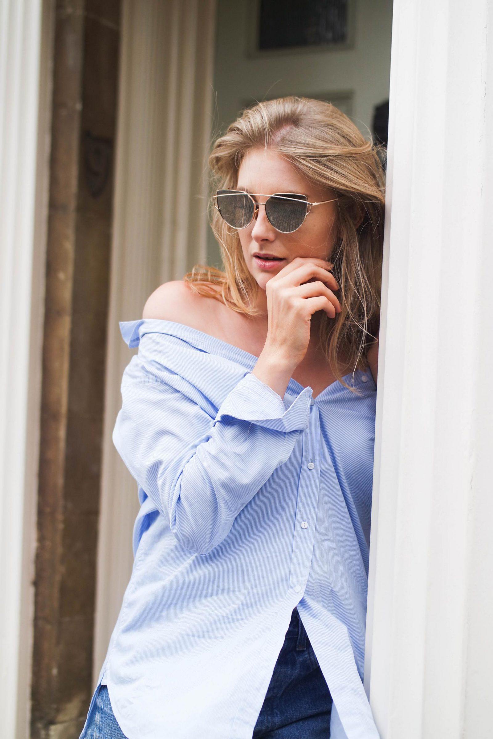 Shirt Dress Fashion Blogger