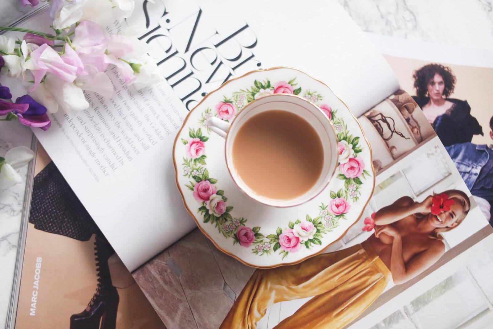 Practicing Mindfulness Vintage Teacup