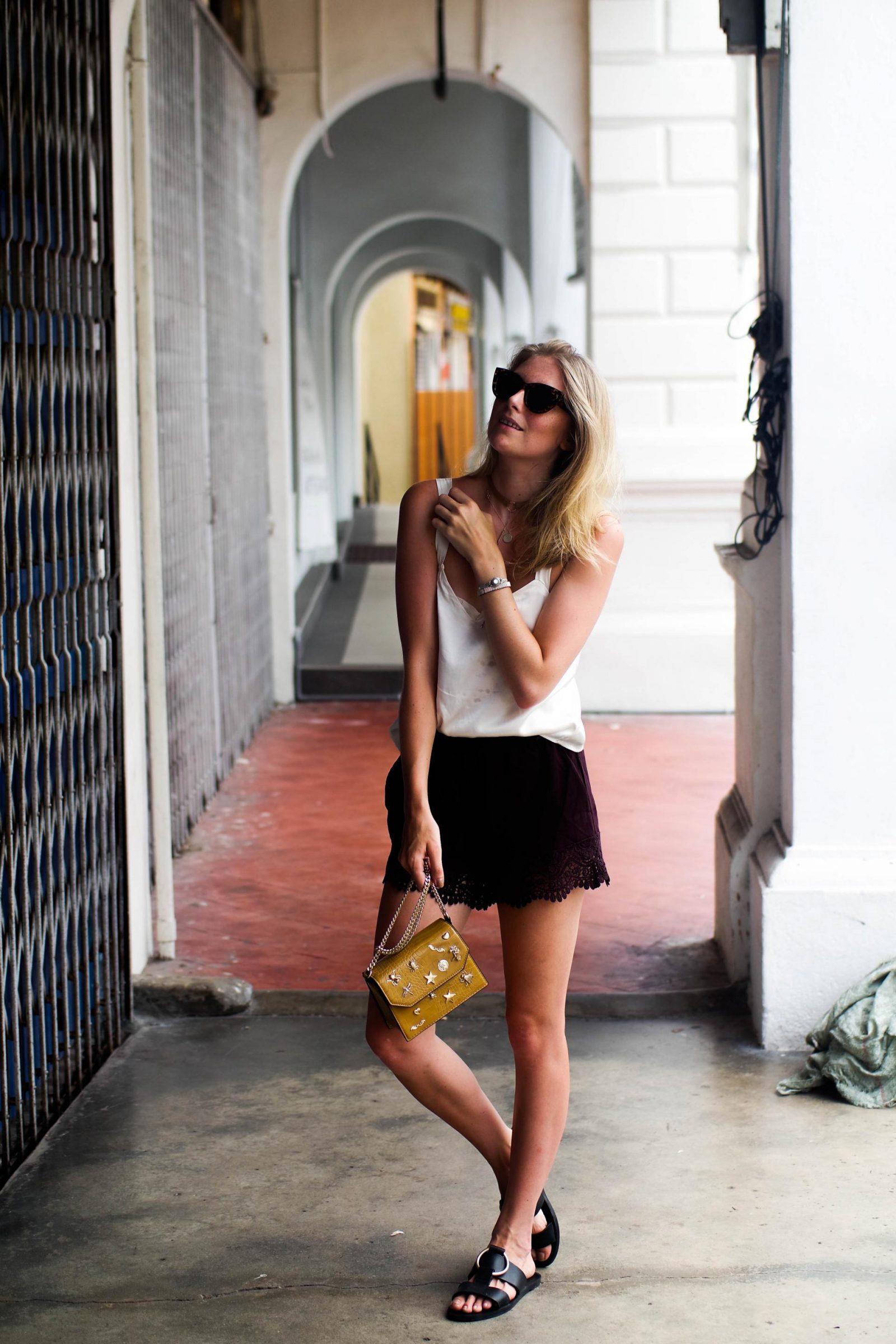 Silky Tops Scallop Shorts Melaka