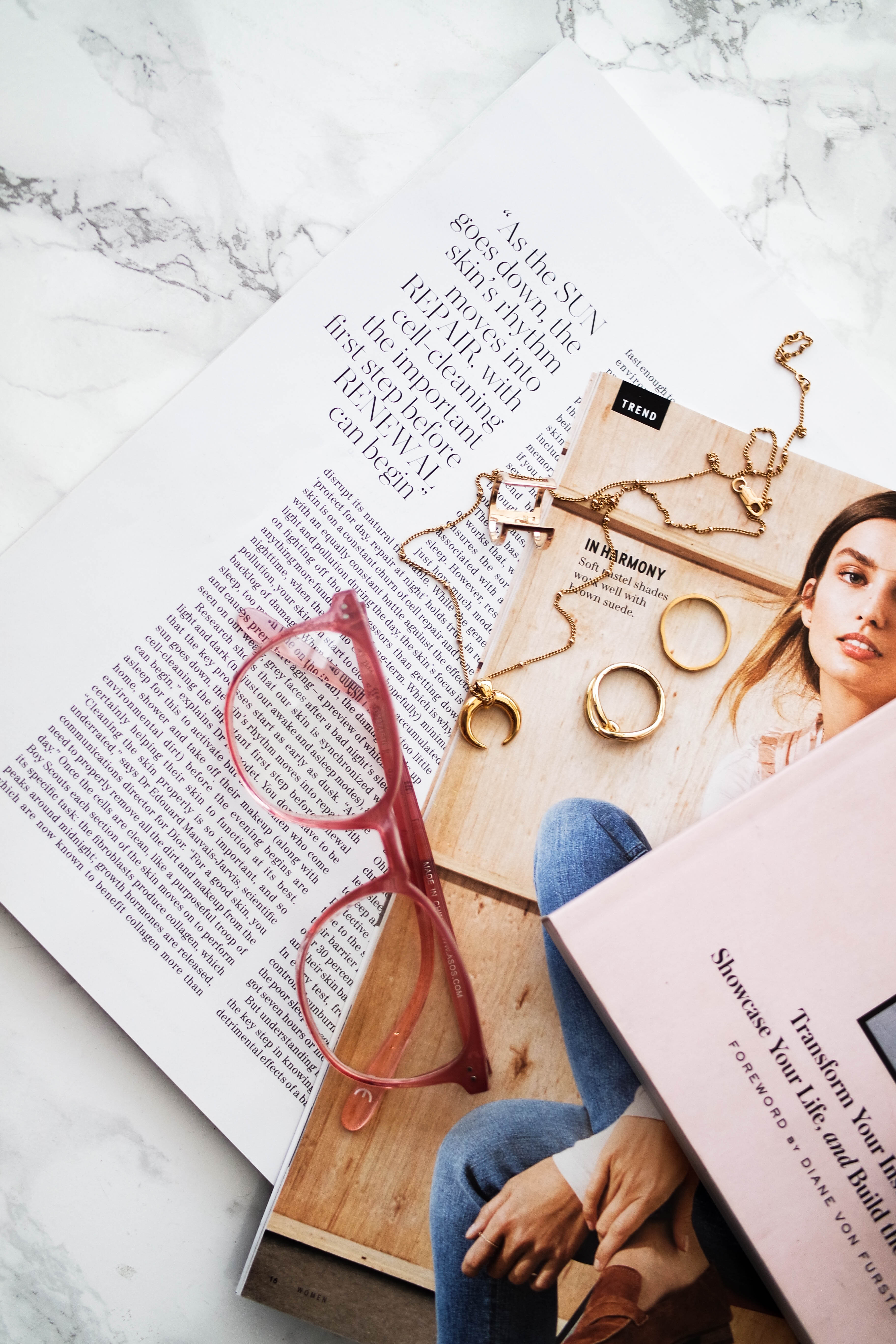 How To Start A Blog Pink Gold Flatlay