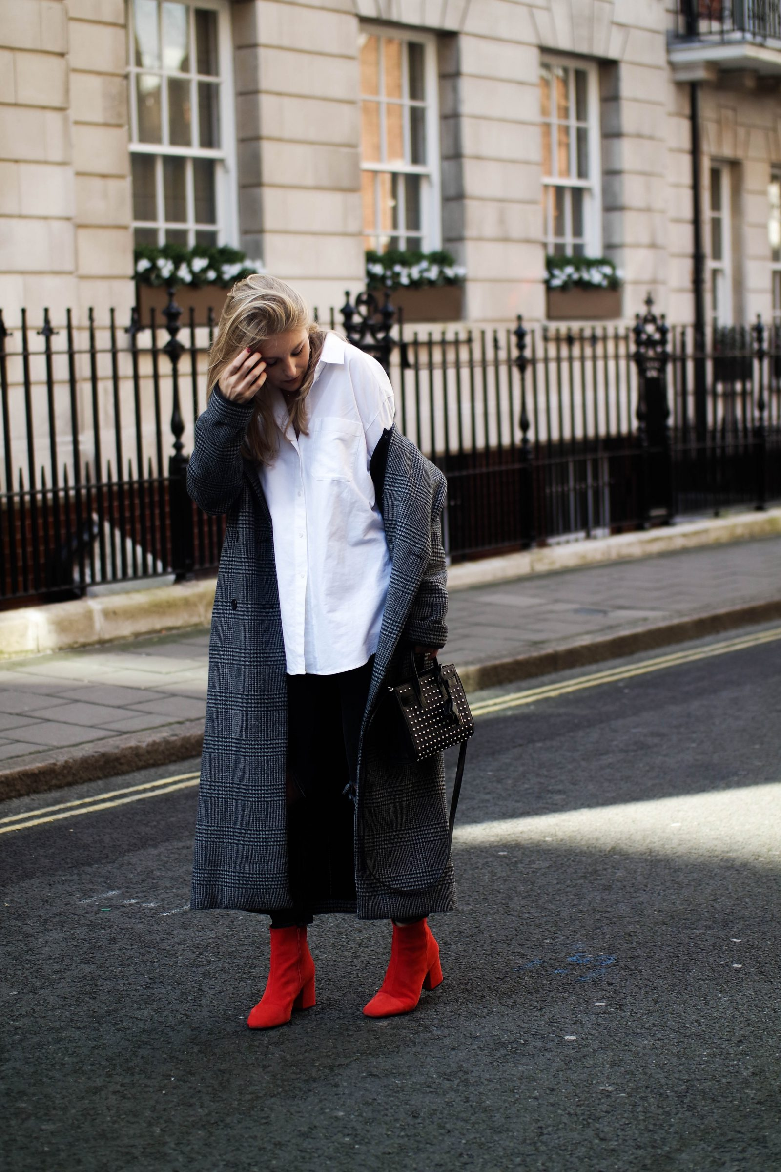 LFW Day 3 Keeping It Monochrome - Red Boots