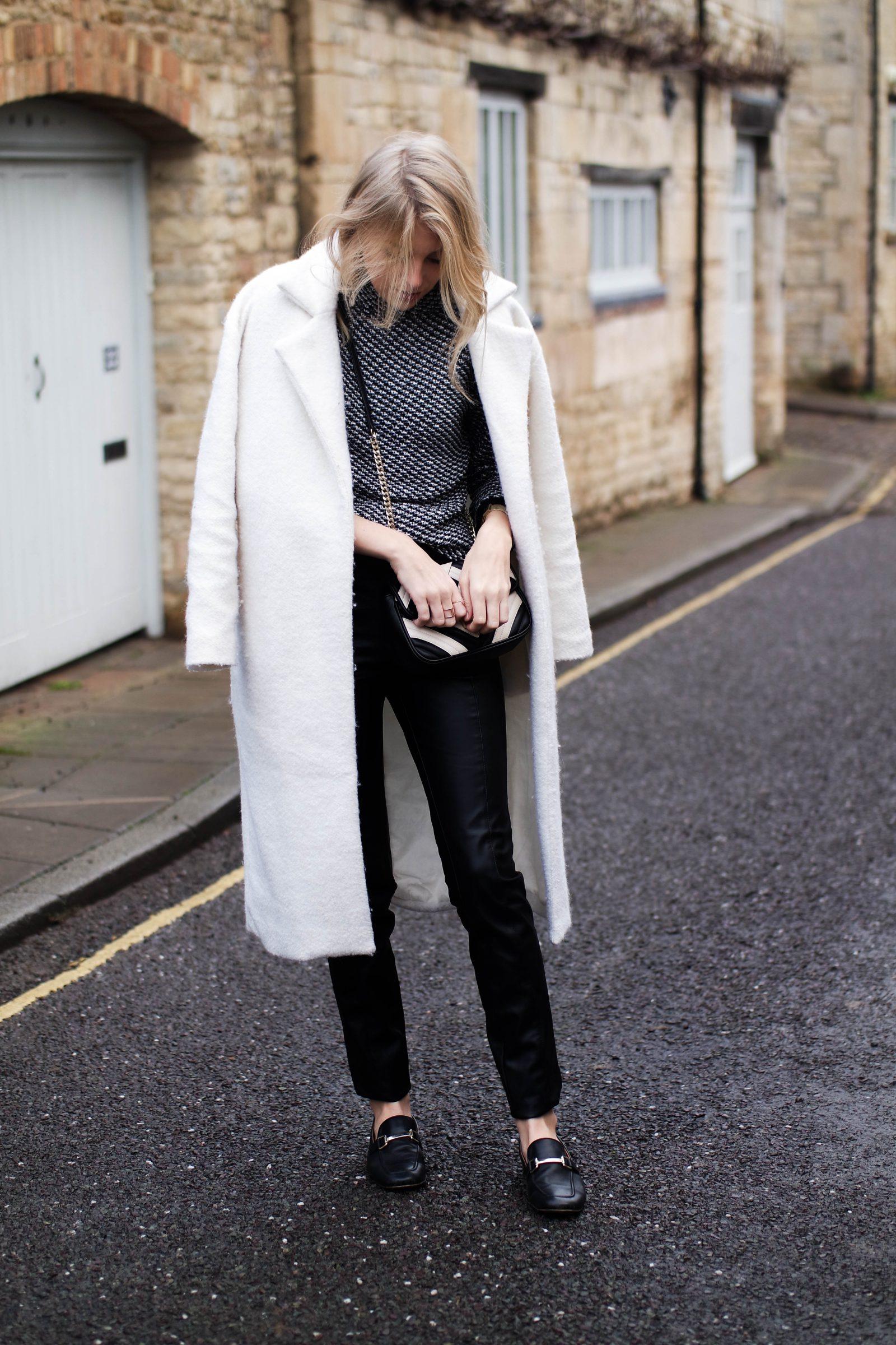 Monochrome 2 Ways With-Laura Ashley Oversized White Coat