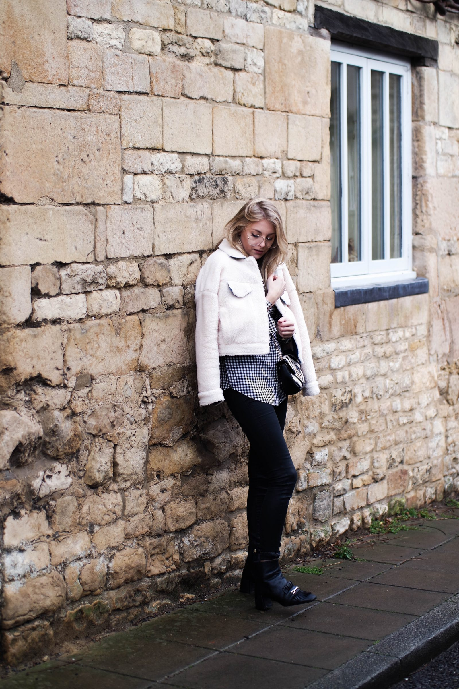 Monochrome 2 Ways With-Laura Ashley Teddy Bear Coat