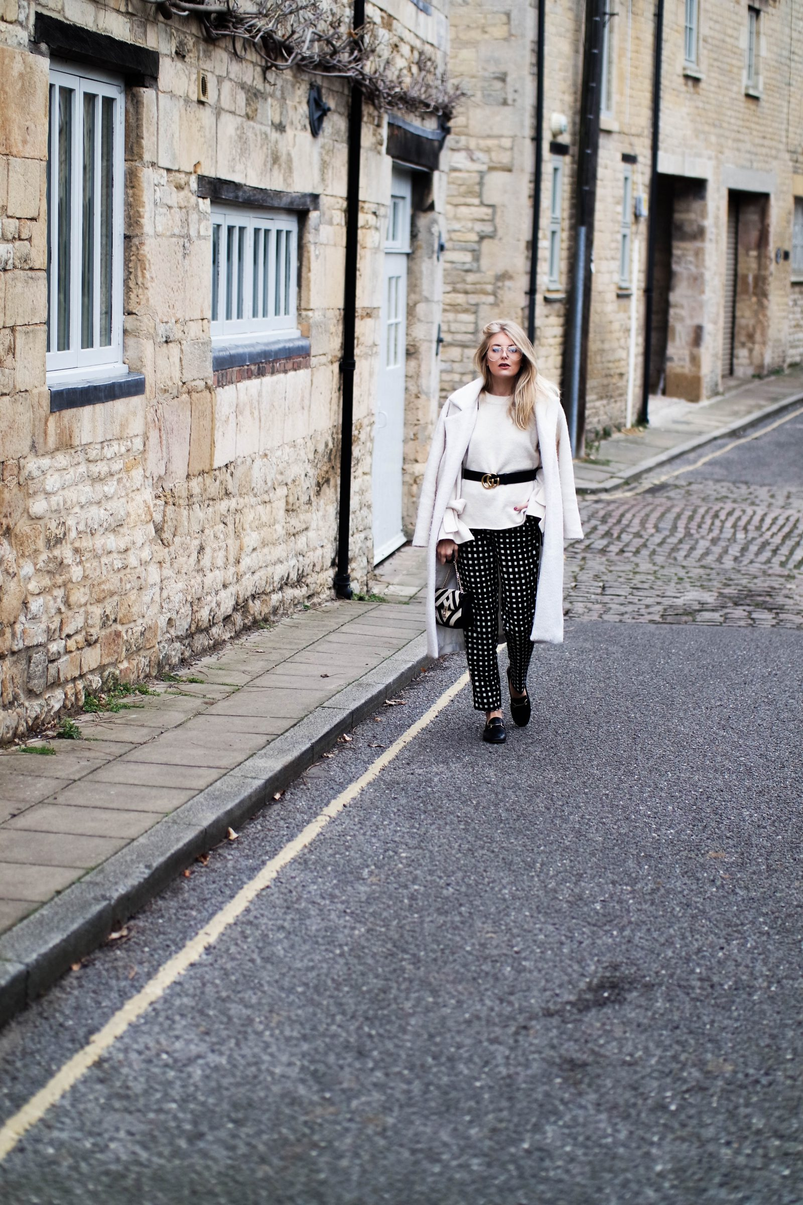Printed Trousers Trying Something New - Blogger Street Style