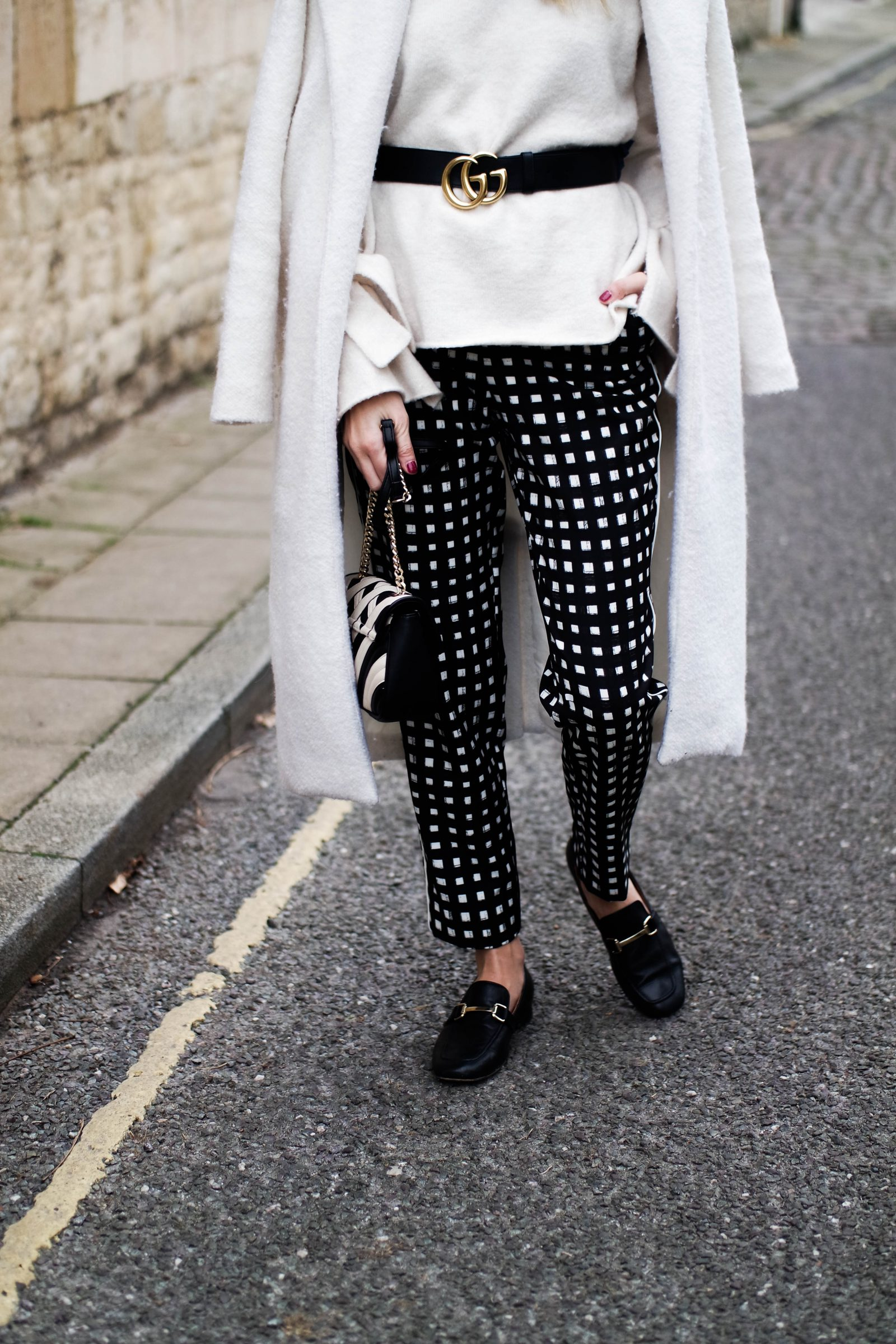 Printed Trousers Trying Something New - Monochrome
