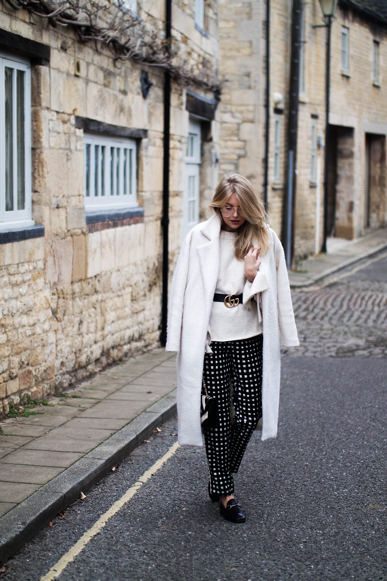 Printed Trousers Trying Something New - Street Style Checked Trousers