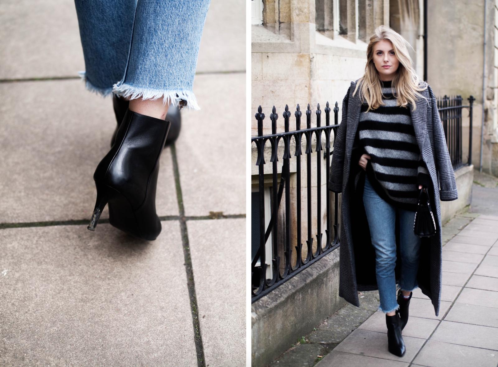 Relatable Blogger - Black Kitten Heel Ankle Boots
