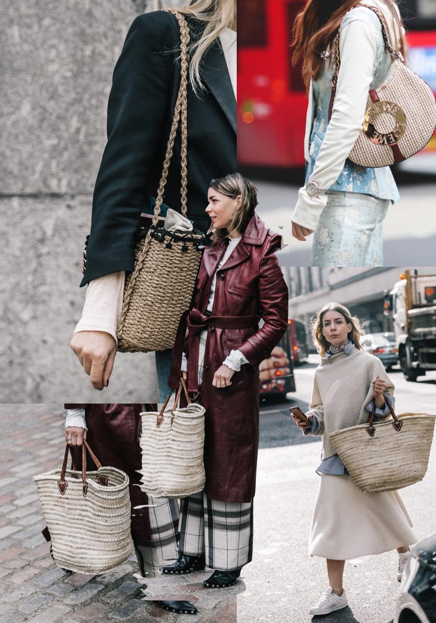 LFW Trend - Raffia Bags