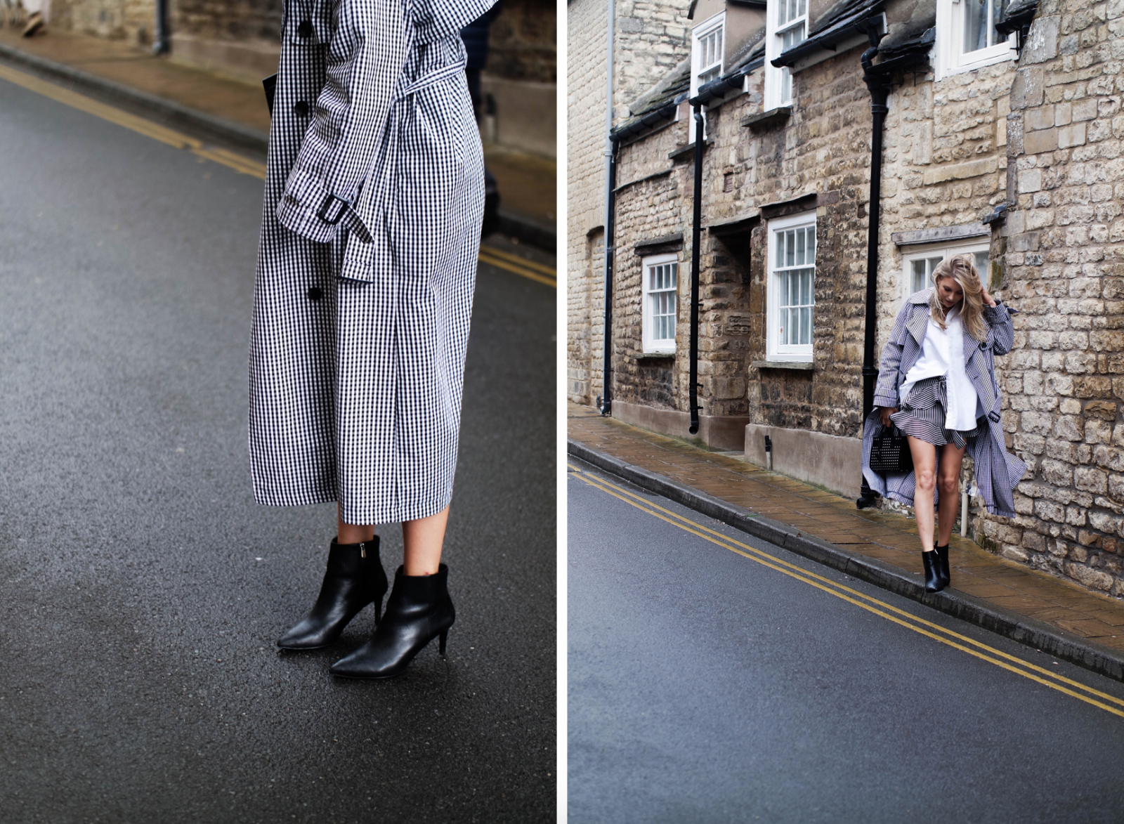 DIY Smooth Spring Legs with Panasonic - Monochrome Trench Coat