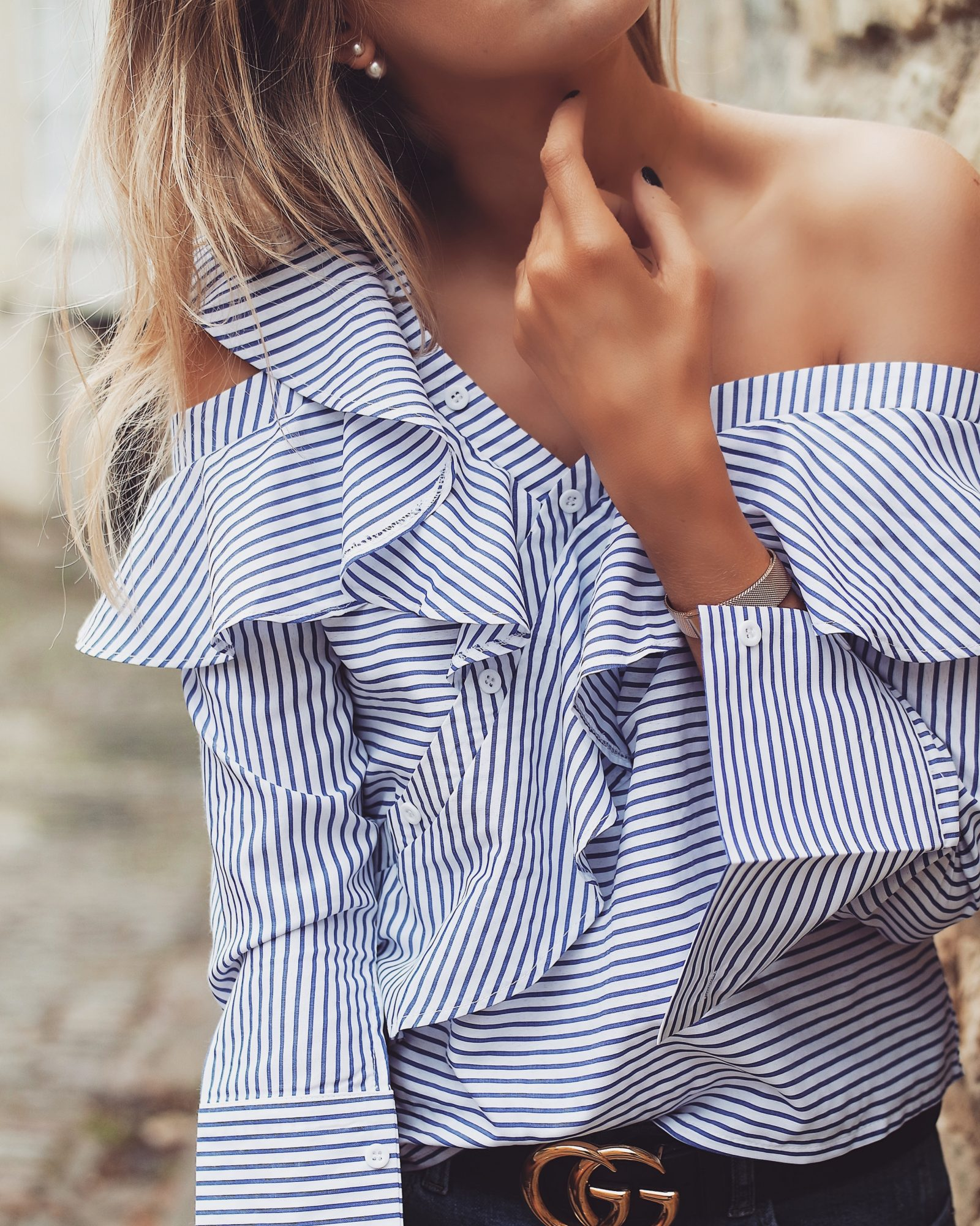 £15 Self Portrait Dupe - Ruffle Striped Top