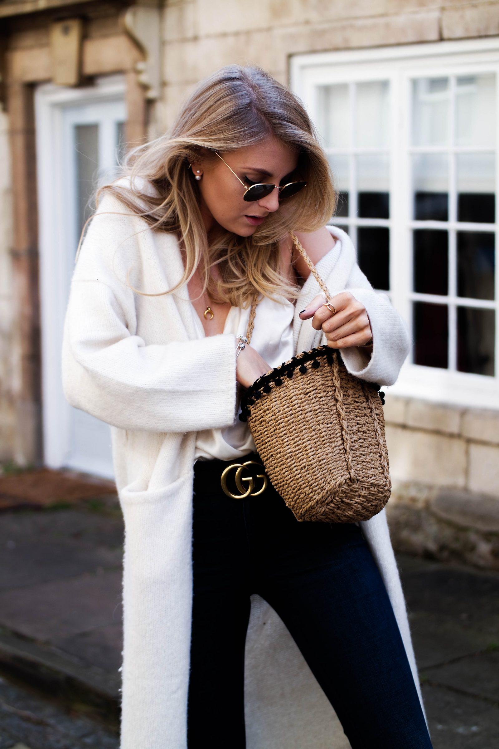 The New Denim - How To Wear Flares - Zara Basket Bag