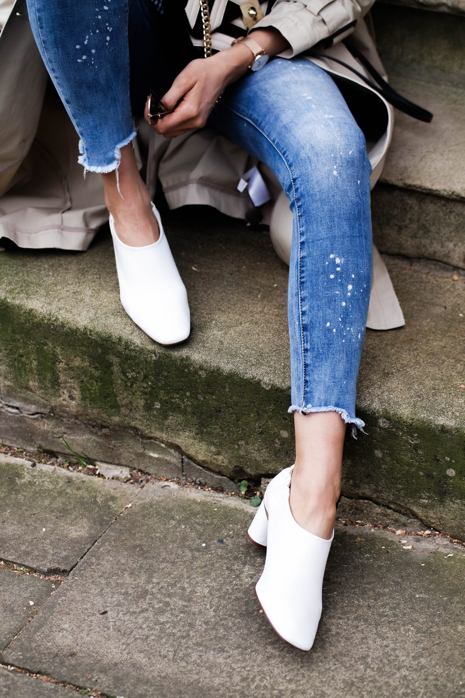 The Spring Wardrobe Staple Every Woman Should Own - White Paint Splatter Jeans