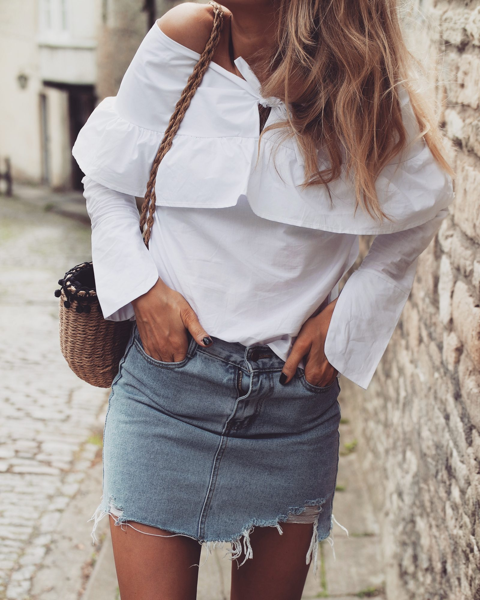 Love Sheinside - Ripped Denim Skirt