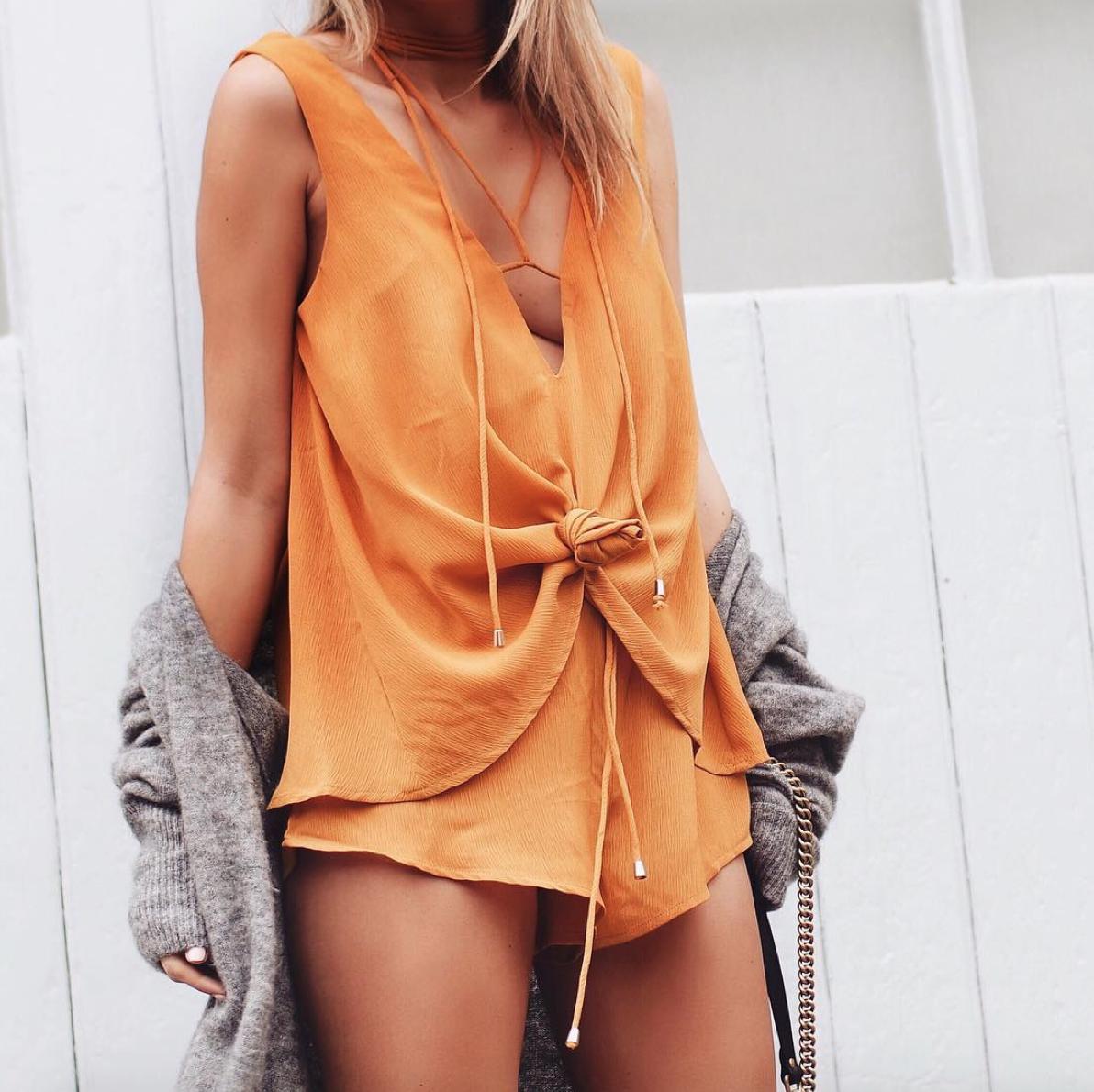 Sabo Skirt Everly Mustard Playsuit