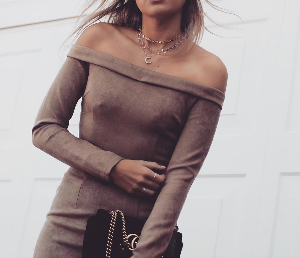 Sabo Skirt Java Suede Top
