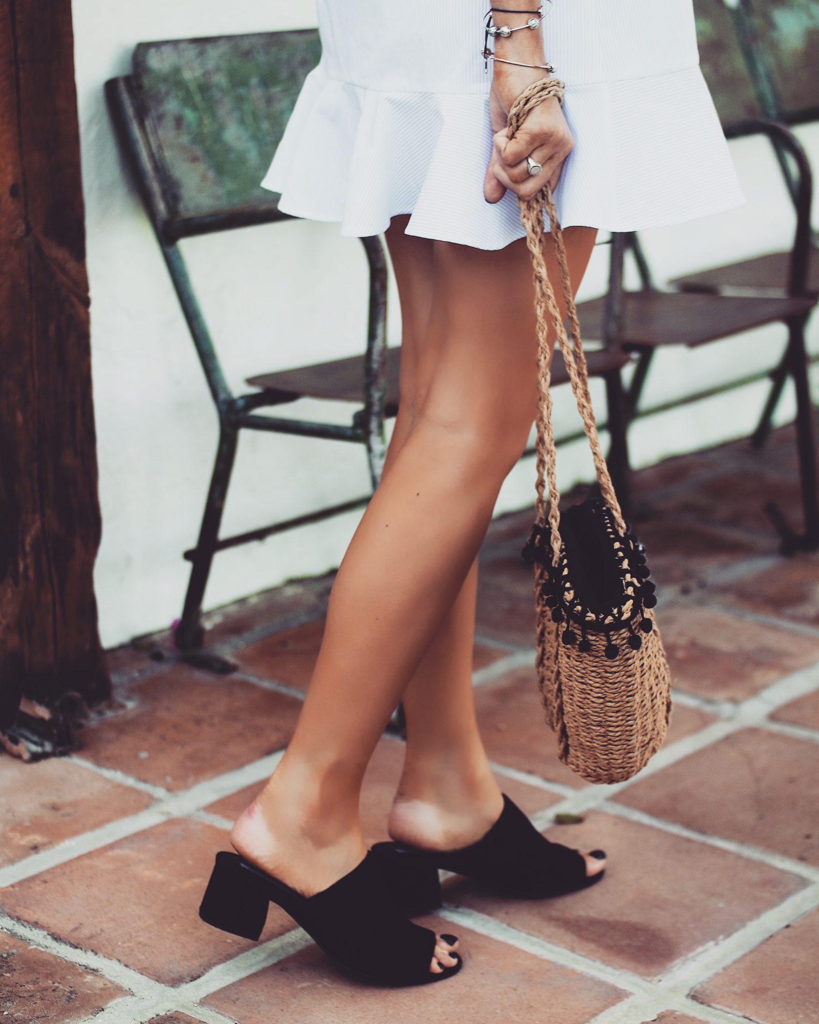 Topshop Dress - Basket Bag