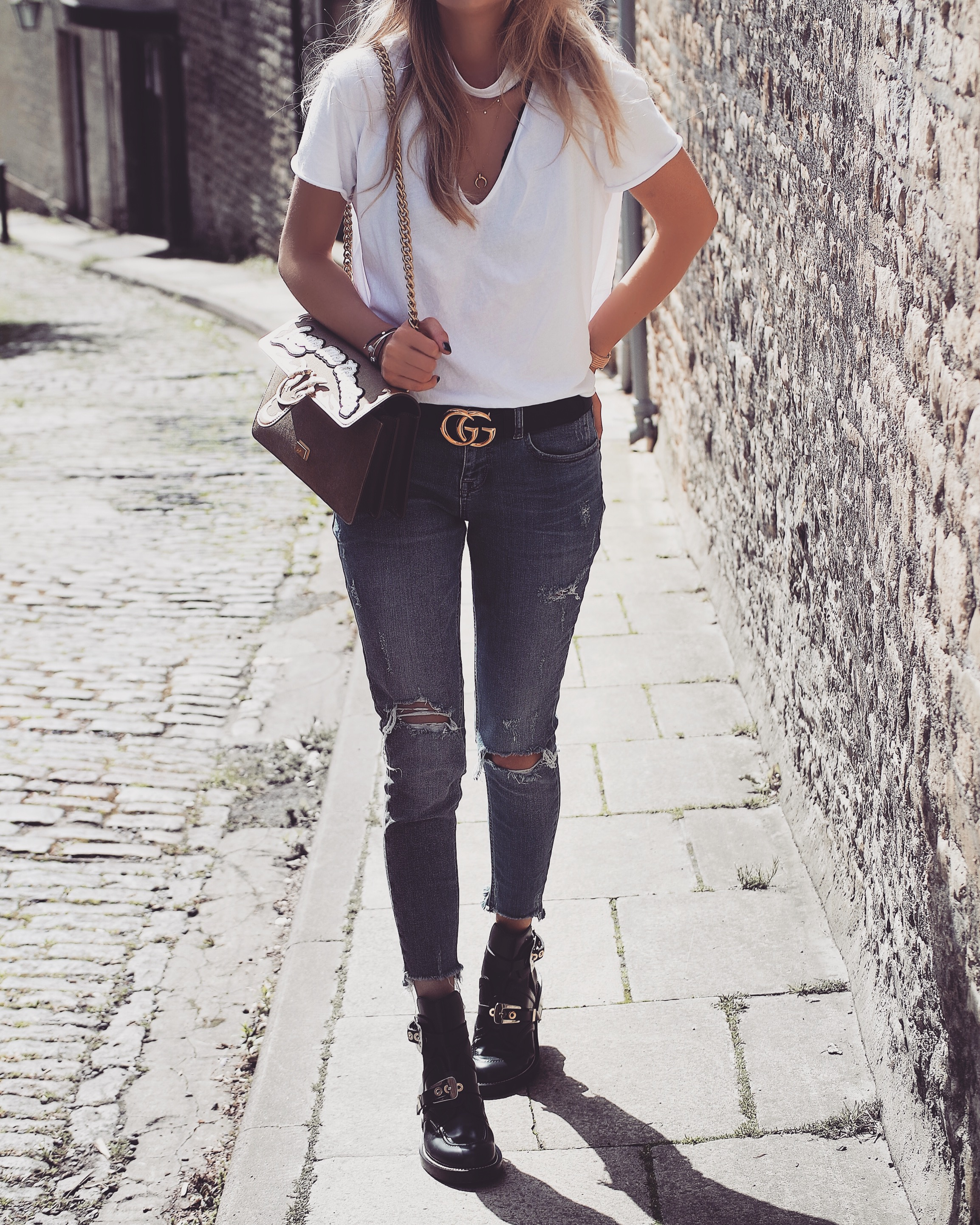 White Tee Street Style Shot Love Style Mindfulness Fashion Personal Style Blog