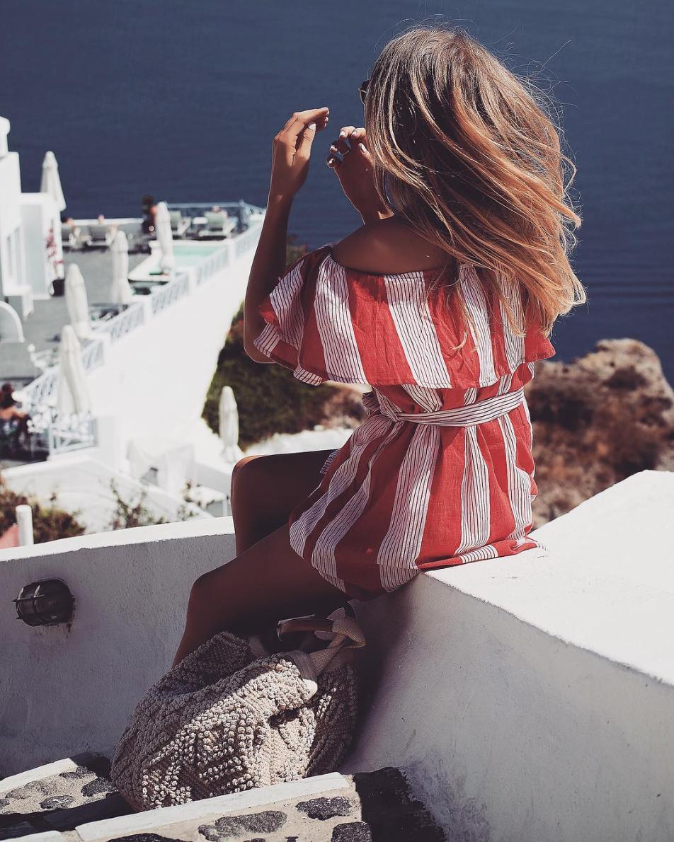 Holiday Lookbook - Faithfull The Brand Dress - Santorini