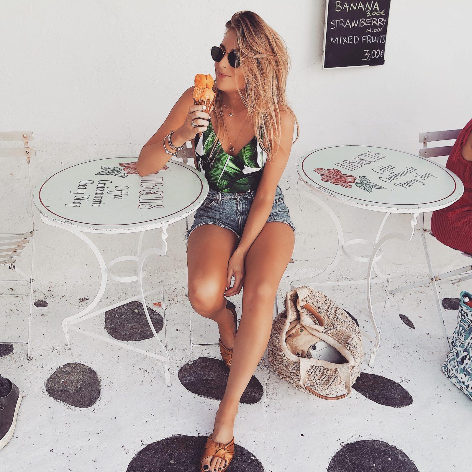 Holiday Lookbook - Mykonos - Ice Cream