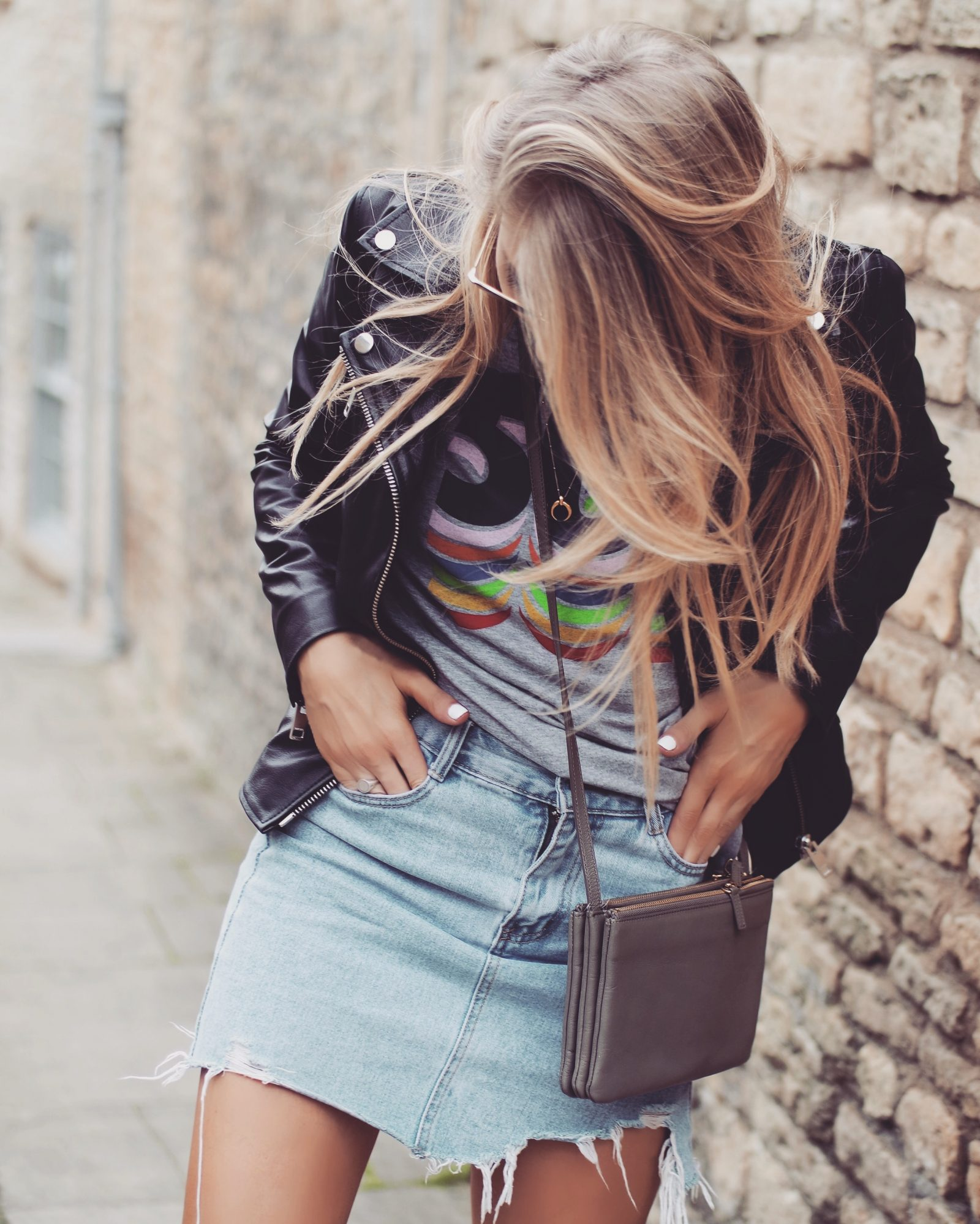 Leather Jacket - Celine Trio Khaki