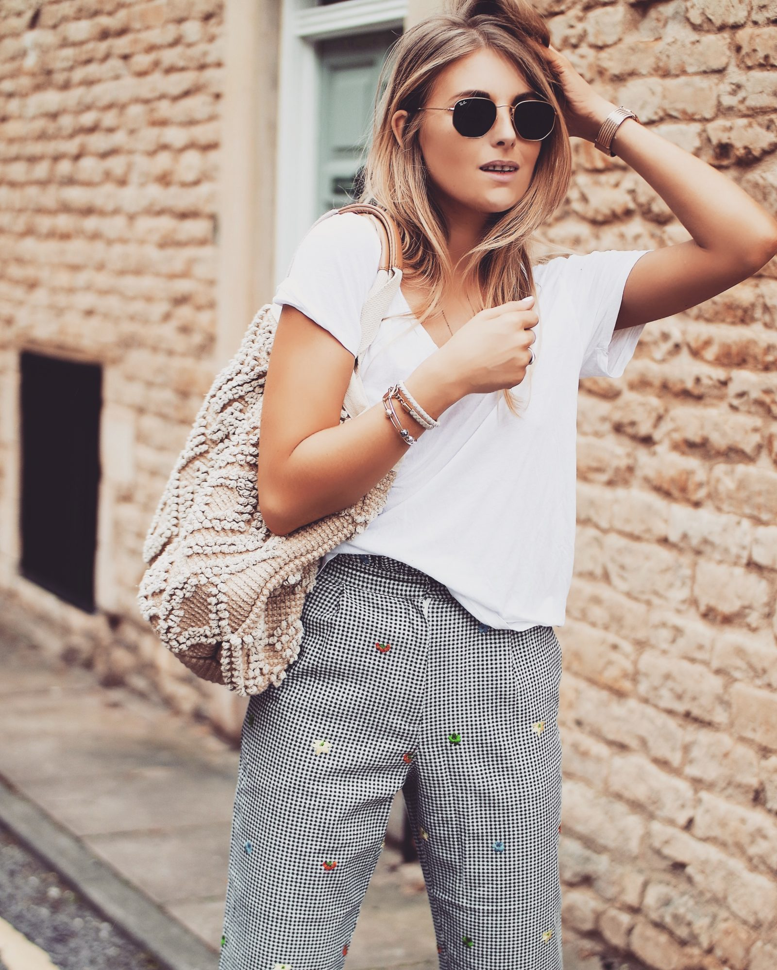 Topshop Gingham Trousers - Non Denim Bottoms - Fashion Blogger